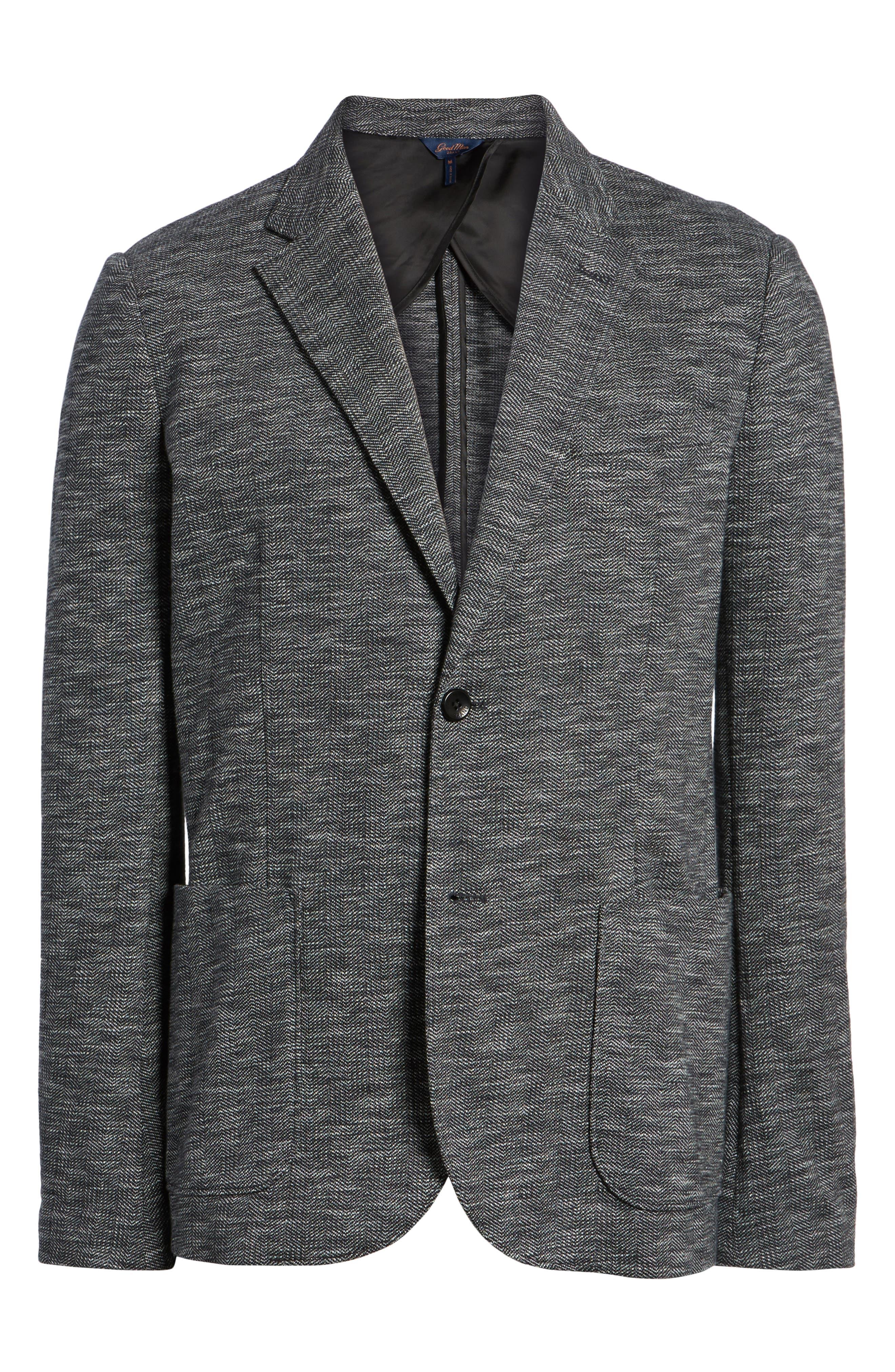 Alternate Image 5  - Good Man Brand Slim Fit Vintage Herringbone Knit Blazer