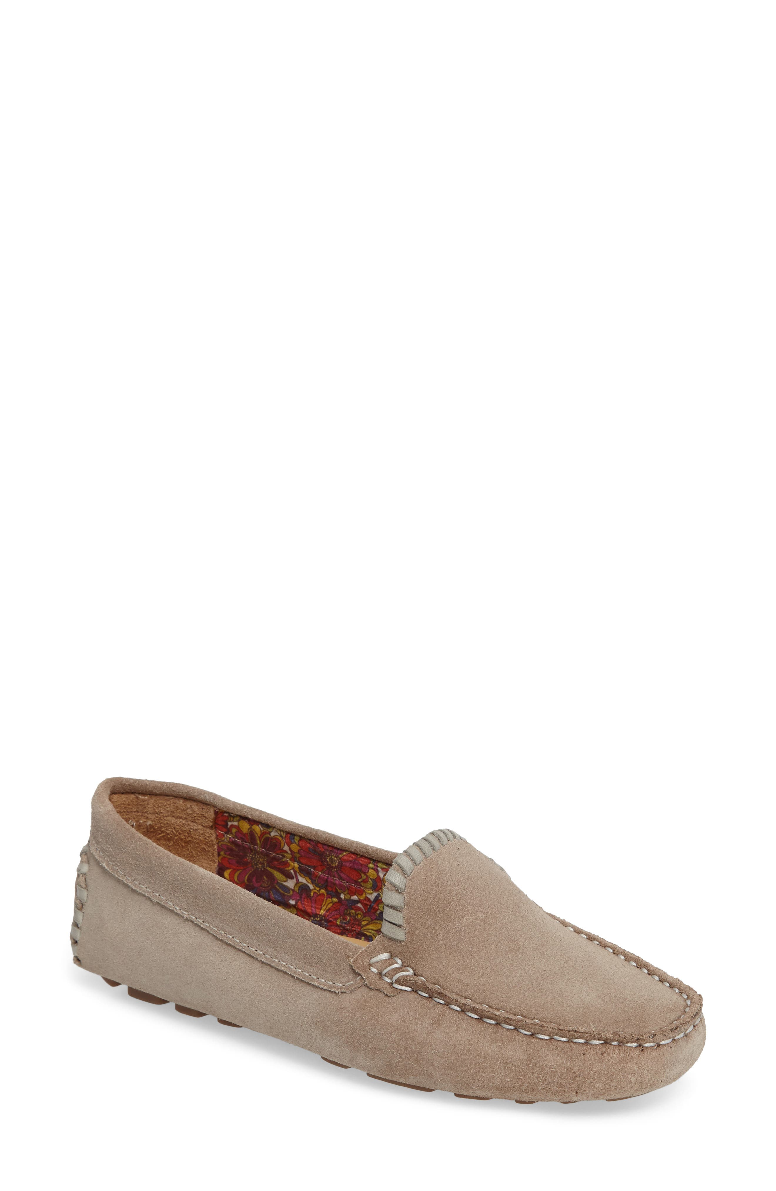 Taylor Driving Loafer,                             Main thumbnail 1, color,                             Dove Grey Suede