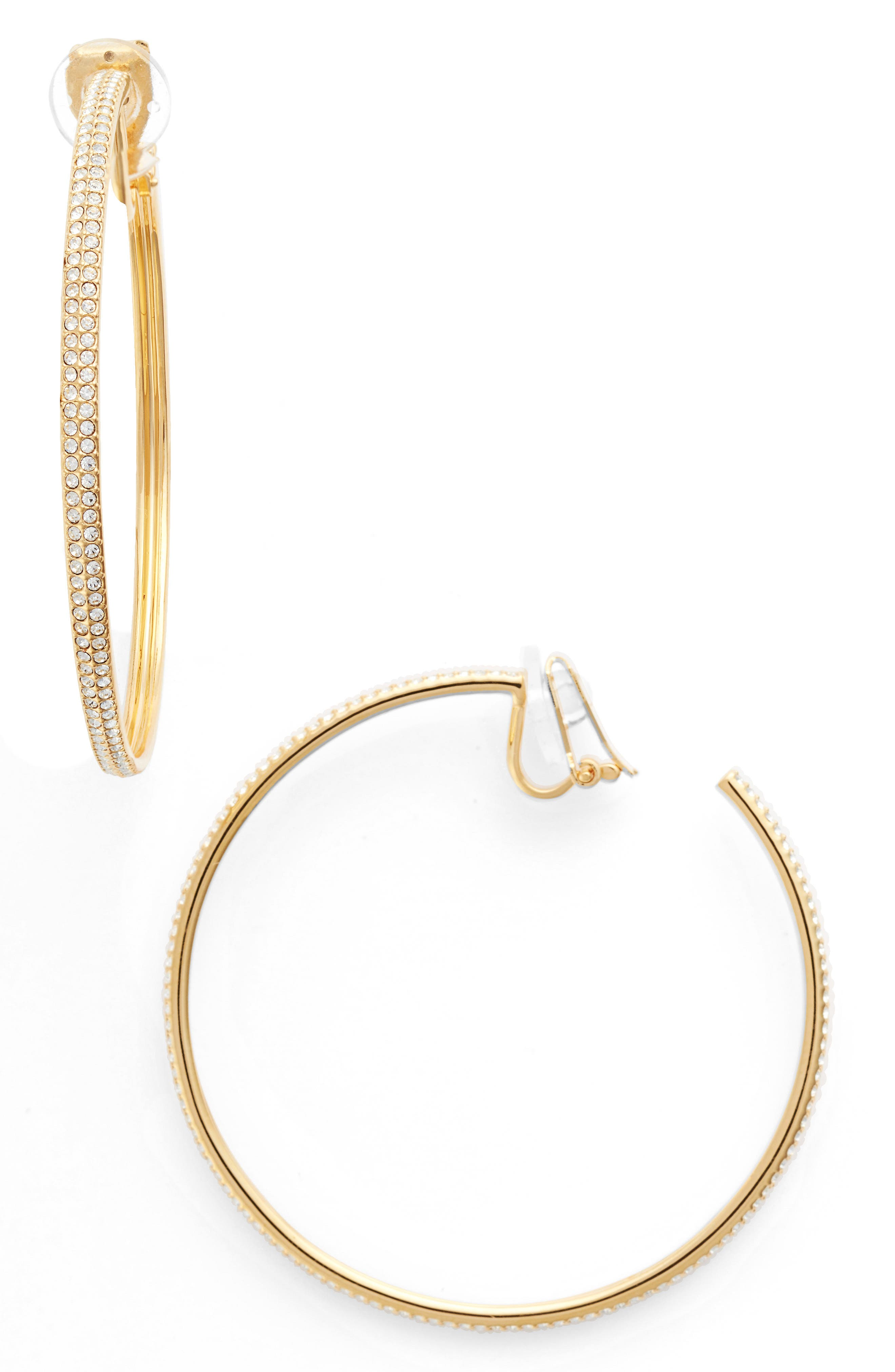 Nadri Large Hoop Earrings