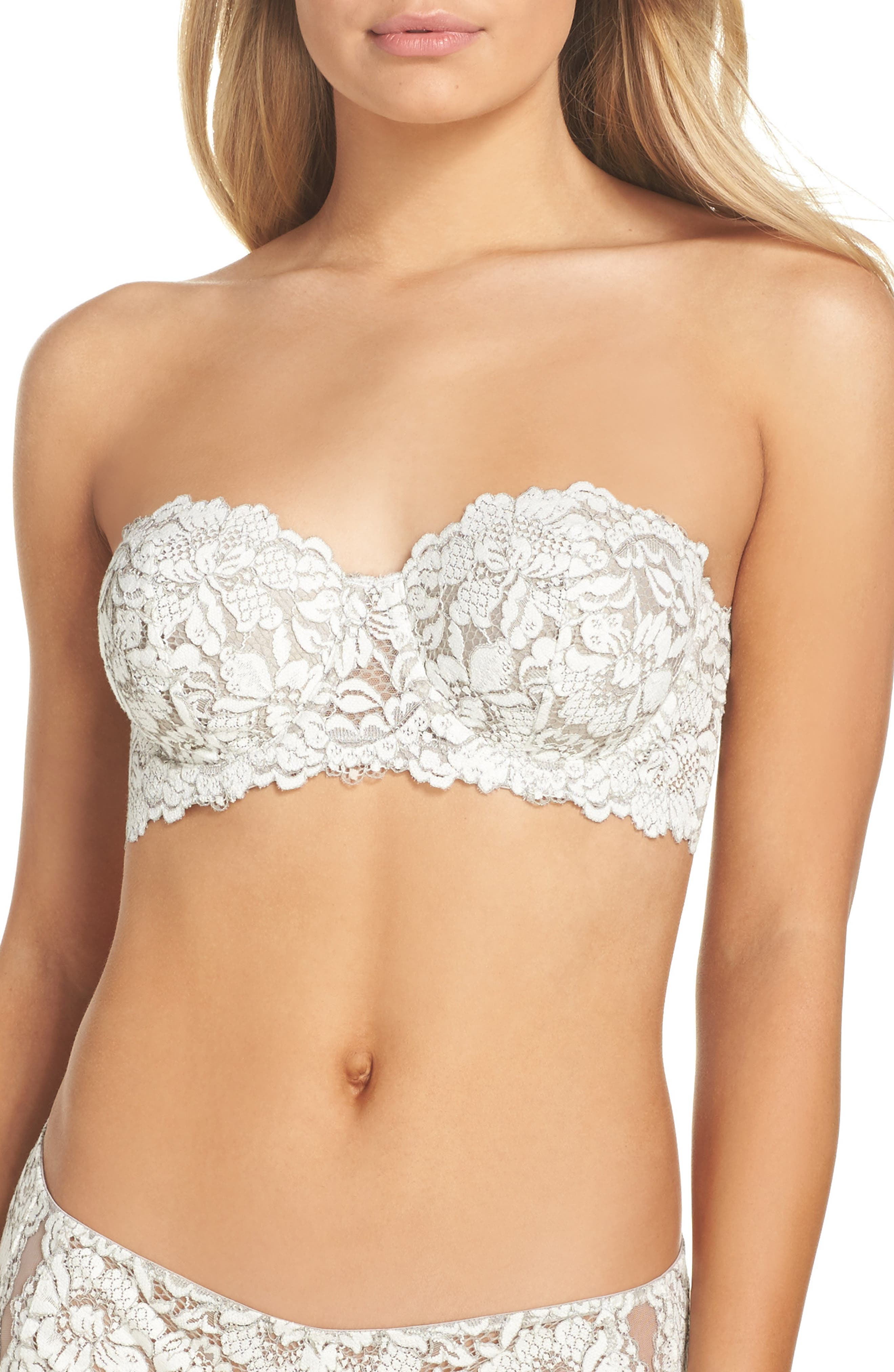 Romeo & Juliette Strapless Contour Bra,                         Main,                         color, Winter White