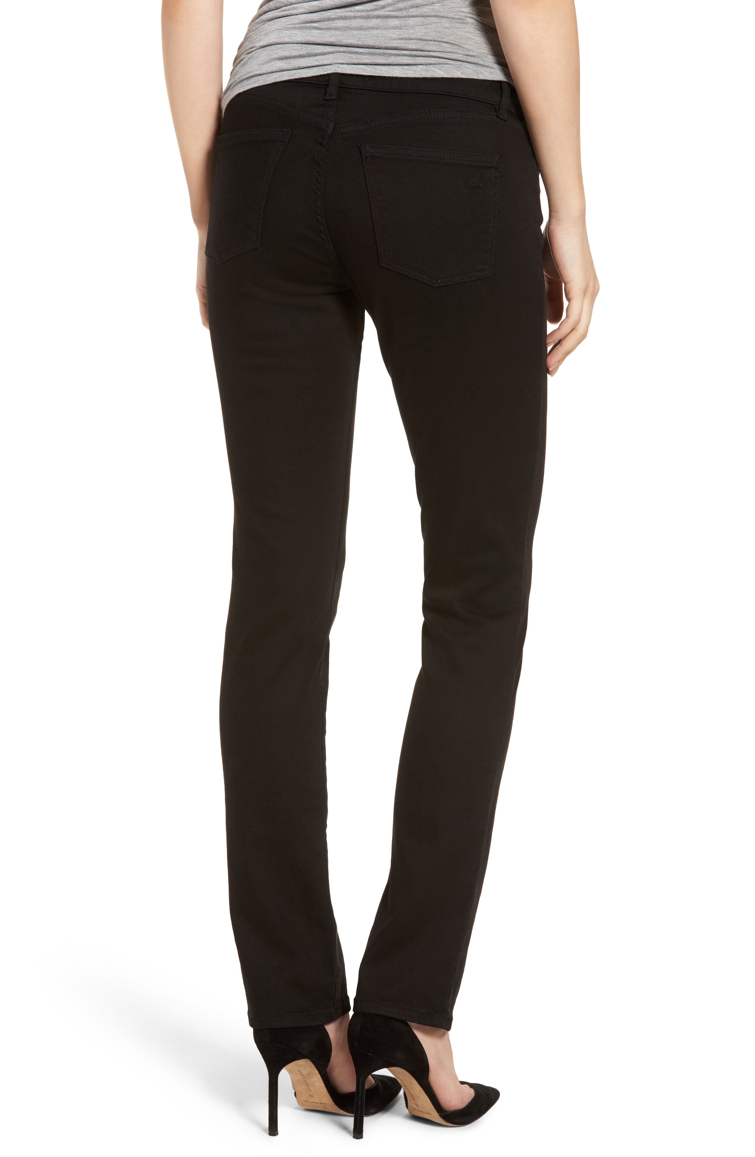 Coco Curvy Straight Leg Jeans,                             Alternate thumbnail 2, color,                             Hail