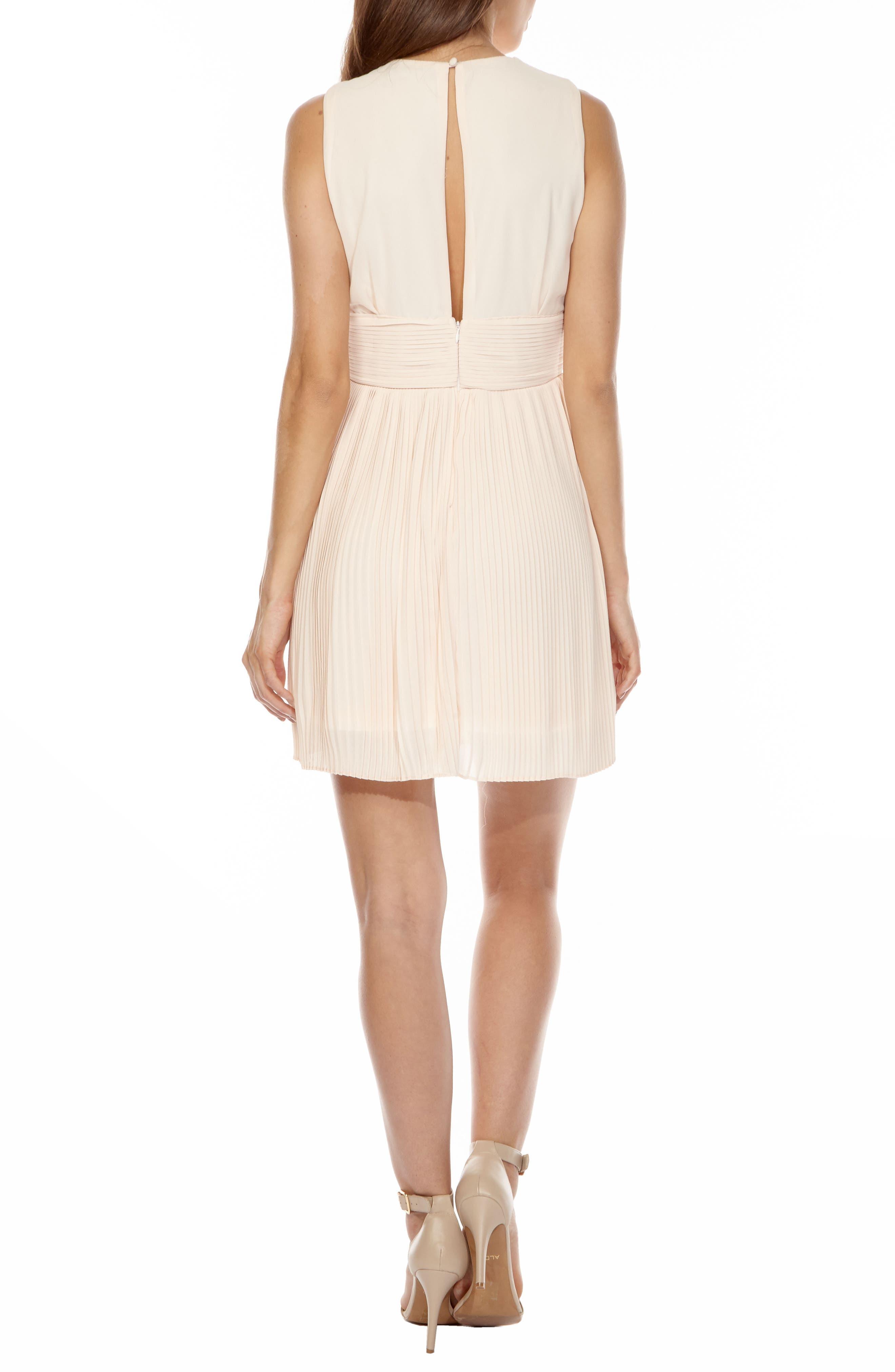Alternate Image 2  - TFNC Dori Pleat Chiffon Fit & Flare Dress