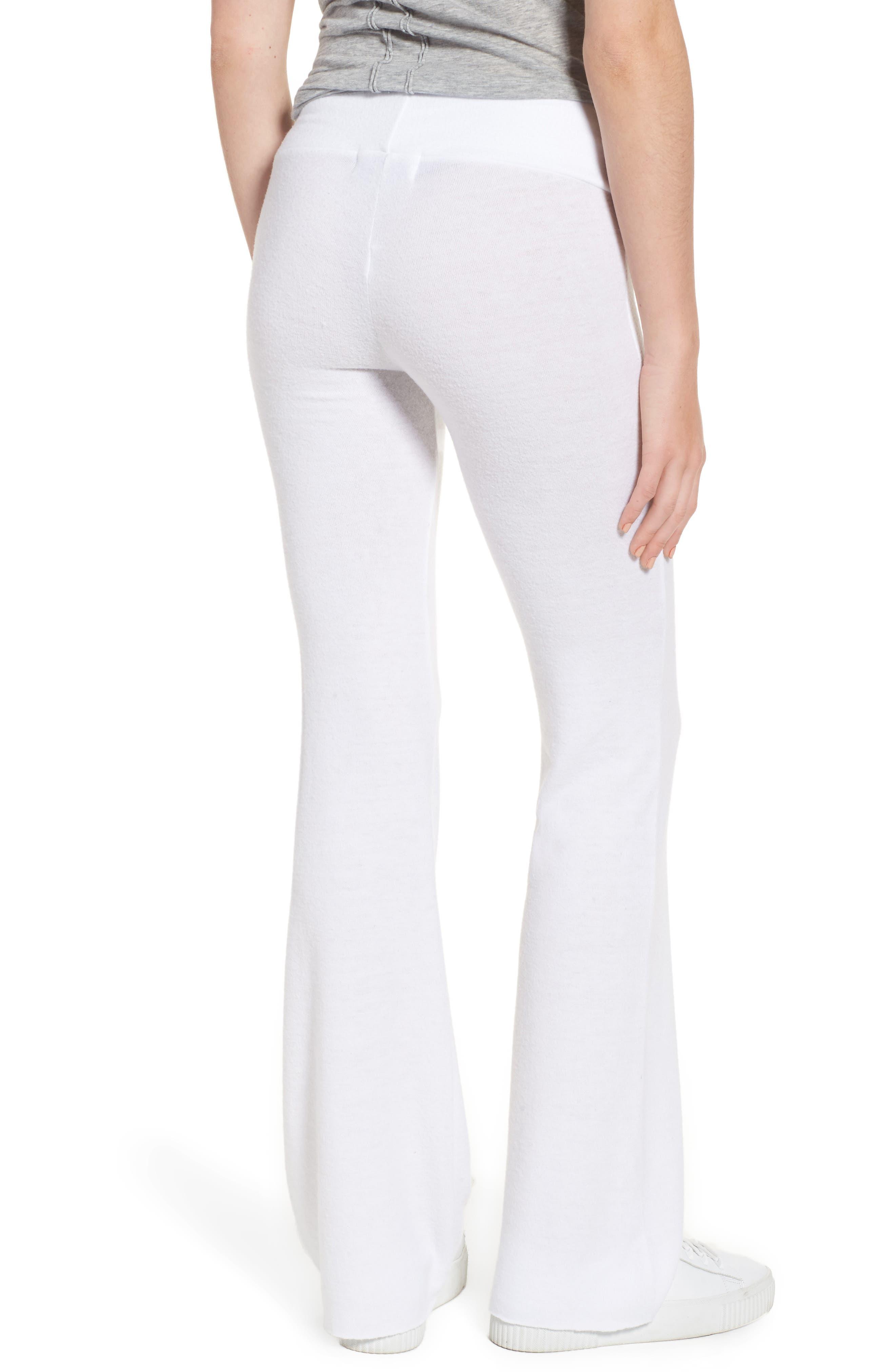 Peace Track Pants,                             Alternate thumbnail 3, color,                             White
