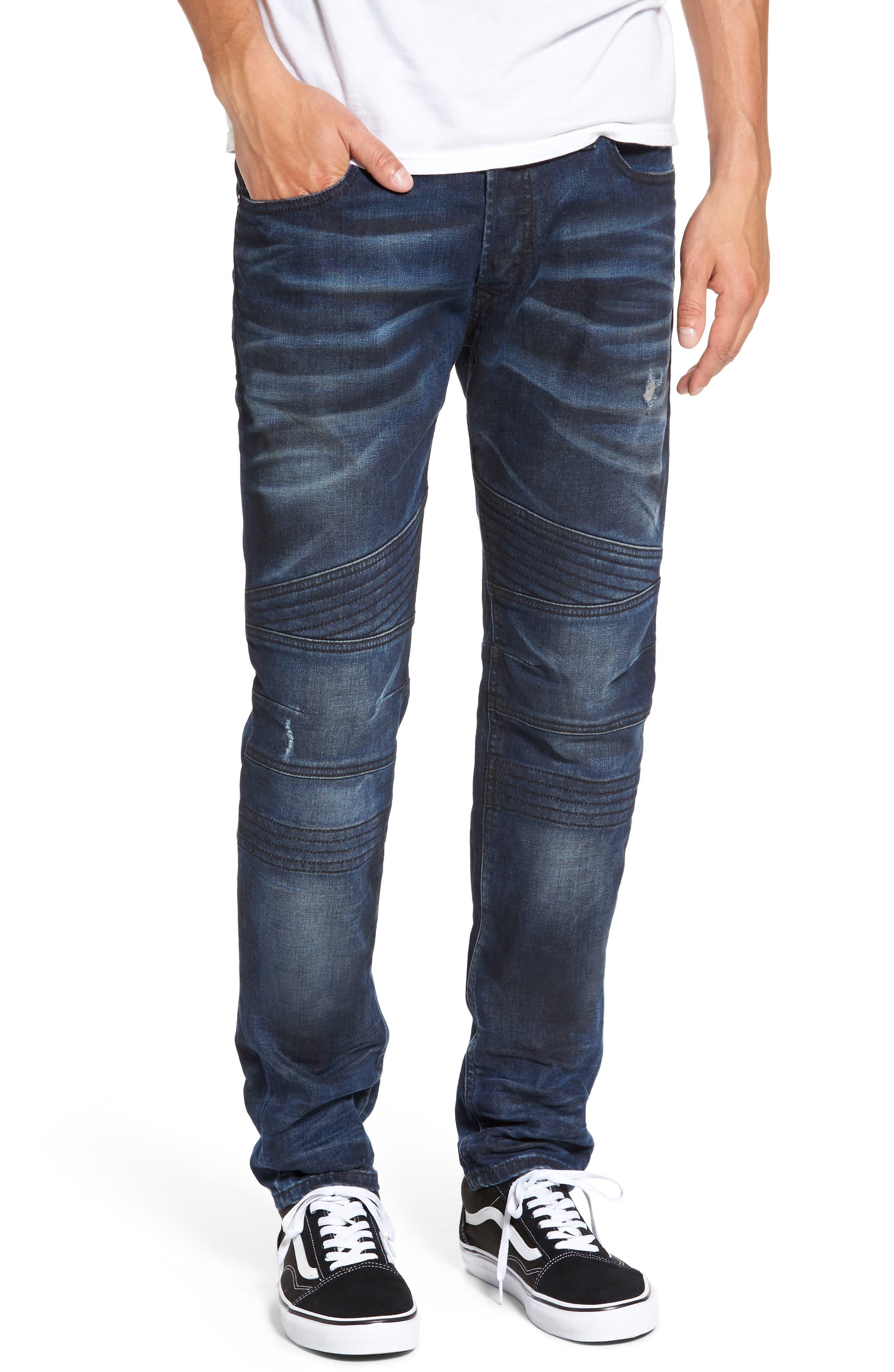 Fourk Skinny Fit Jeans,                         Main,                         color, Denim