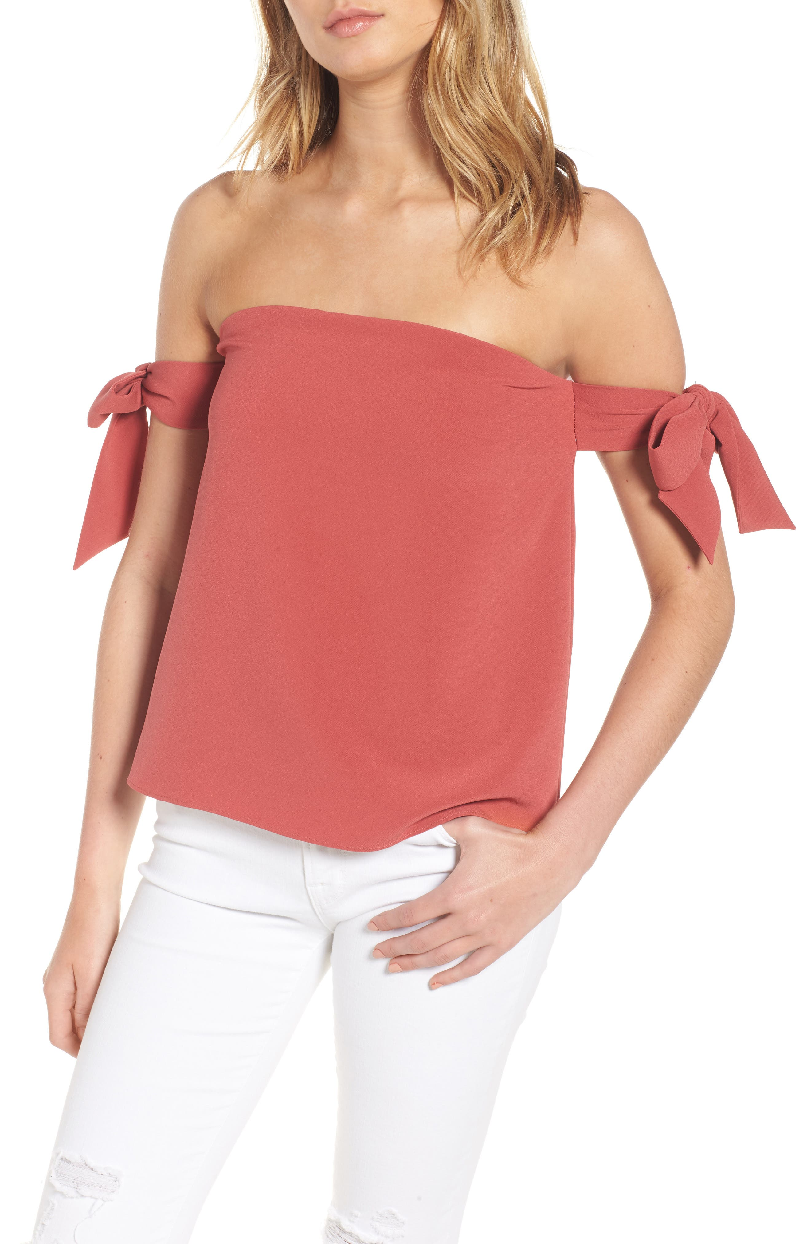 Main Image - cooper & ella Lova Bow Off the Shoulder Top
