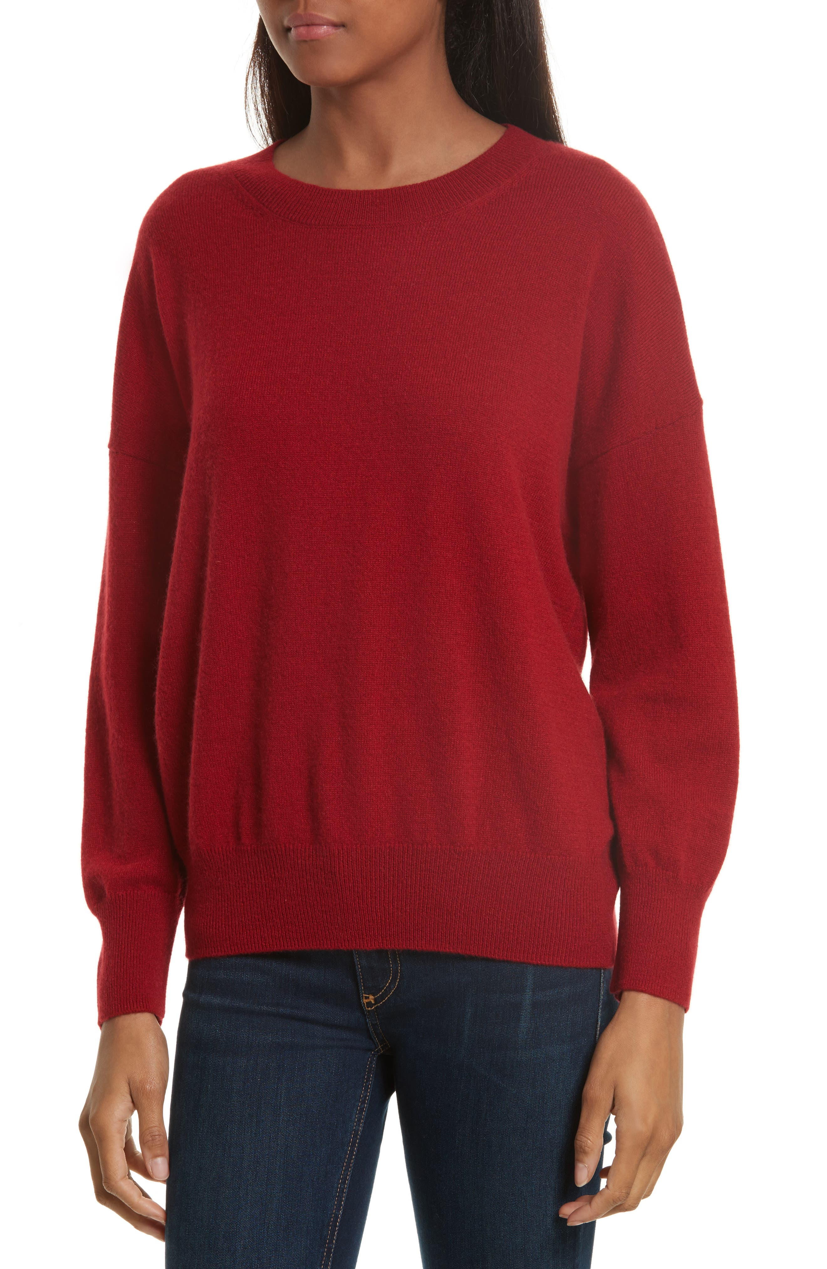 Melanie Cashmere Sweater,                             Main thumbnail 1, color,                             Rhubarb
