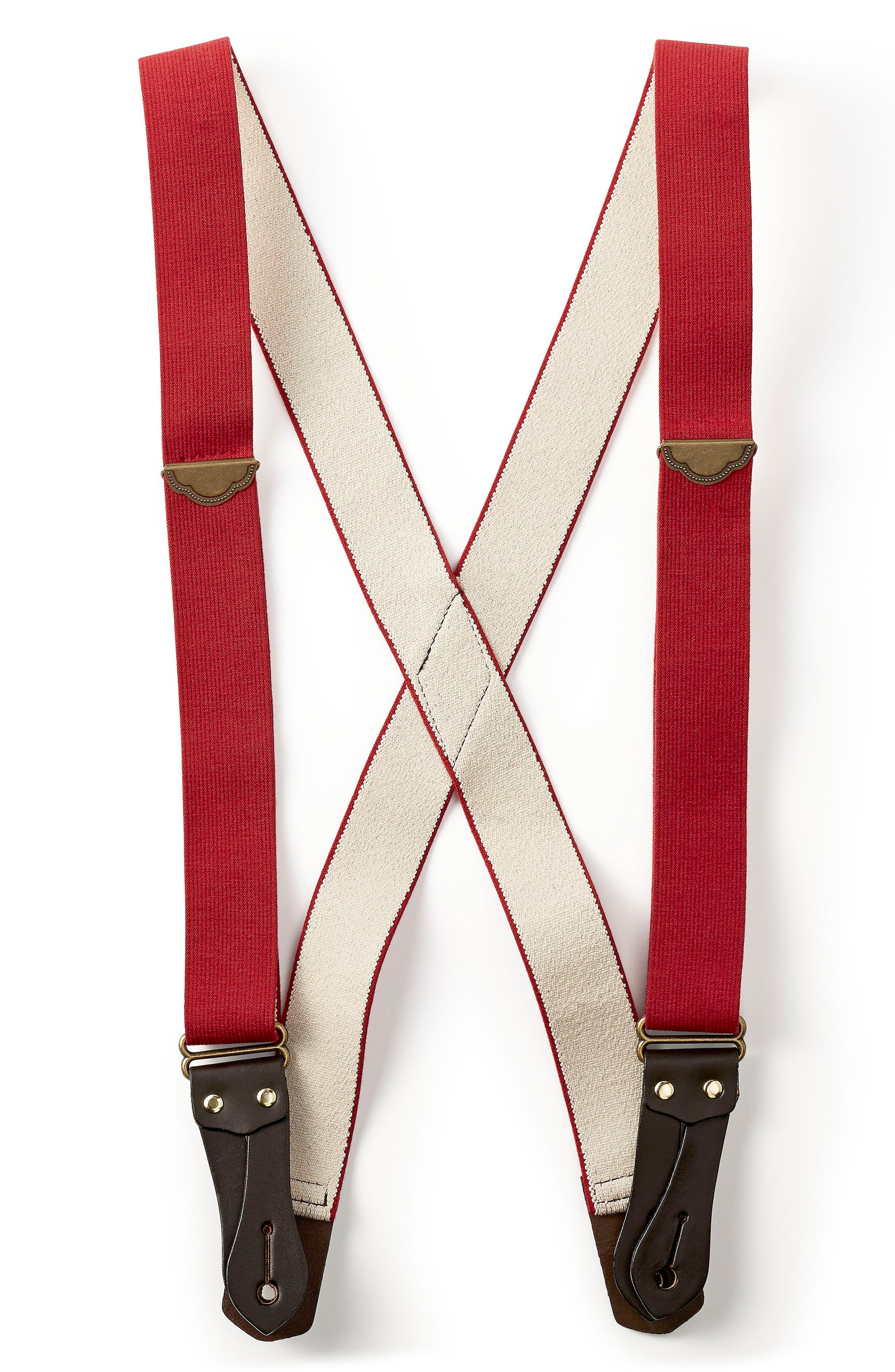Tab Suspenders,                         Main,                         color, Red