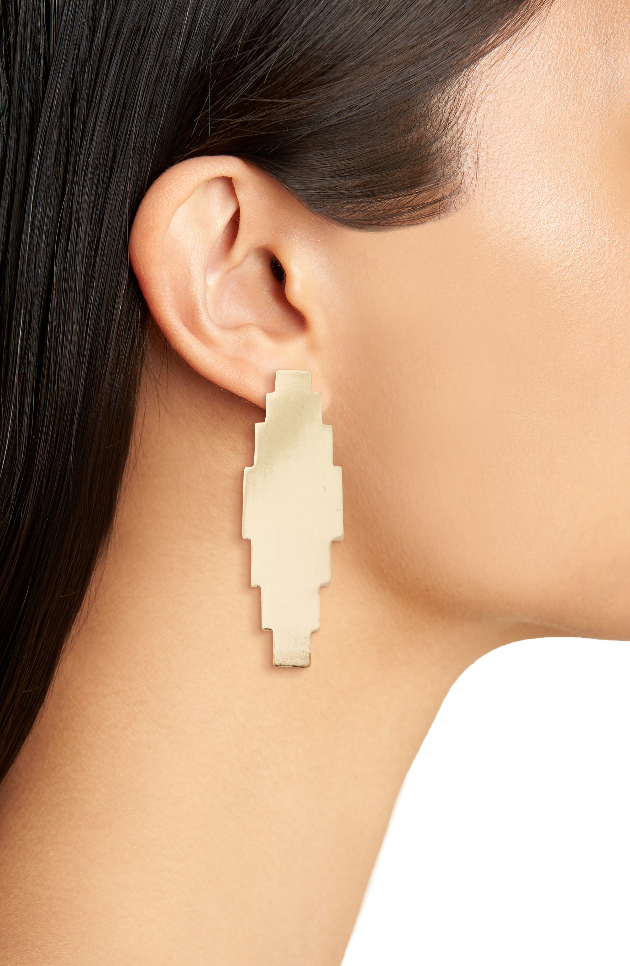 Elohi Post Earrings,                             Alternate thumbnail 2, color,                             Gold