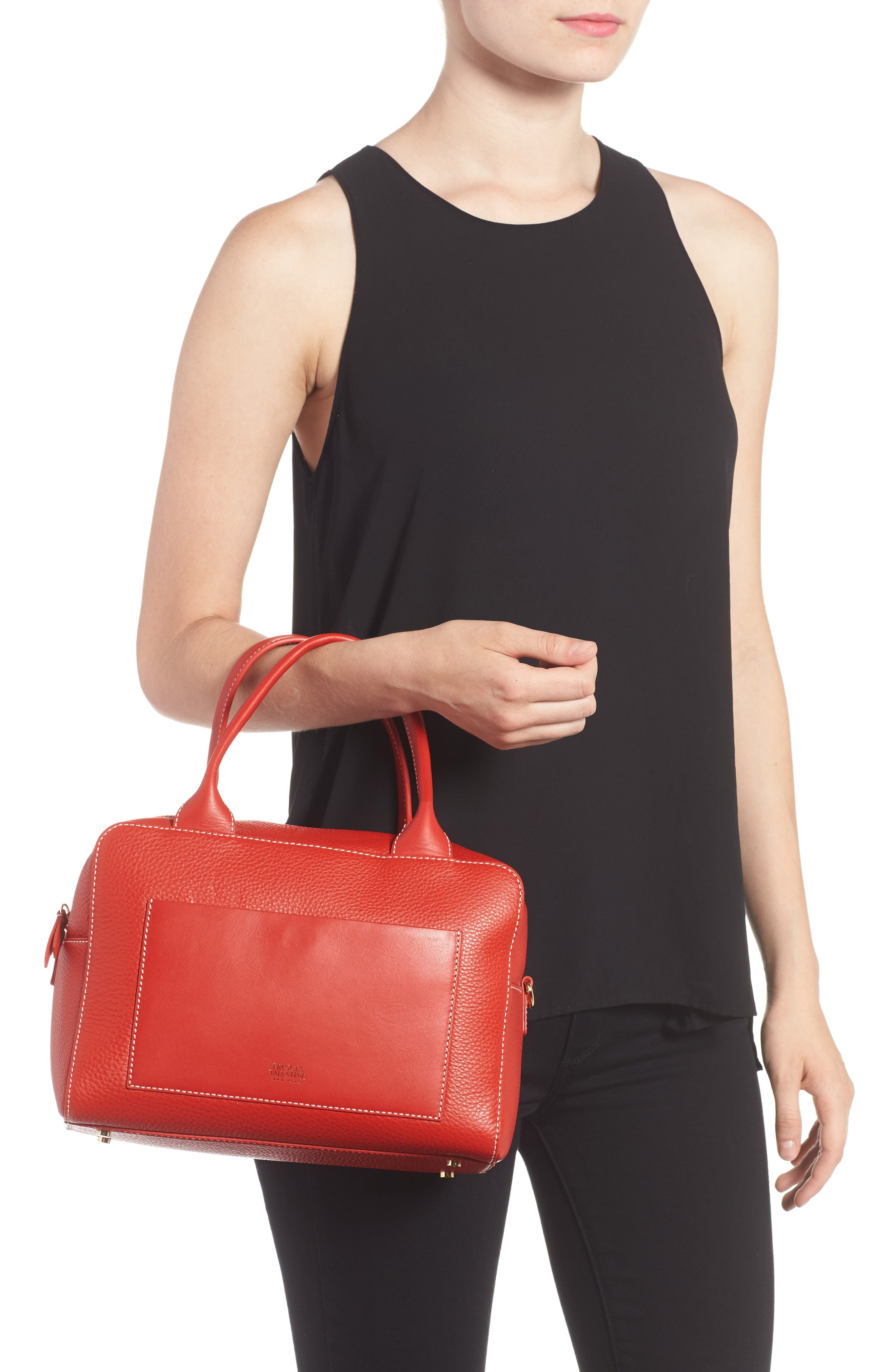 Medium Maddy Satchel,                             Alternate thumbnail 2, color,                             Coral