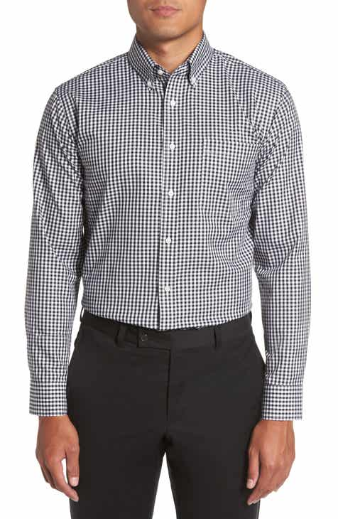 Nordstrom Men s Shop Trim Fit Non-Iron Gingham Dress Shirt 1f83a15d6a8d