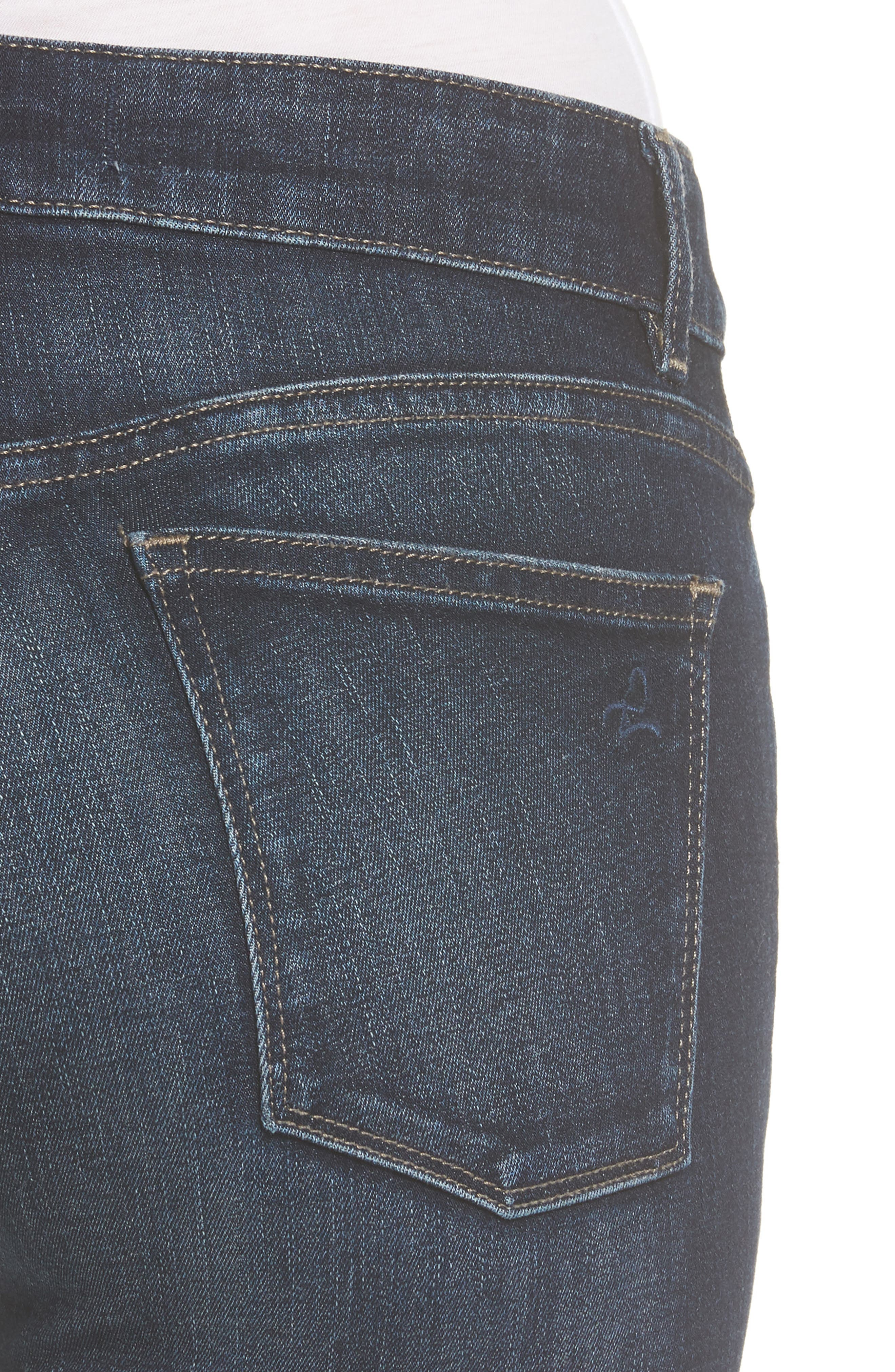 Florence Instasculpt Skinny Jeans,                             Alternate thumbnail 4, color,                             Darcy