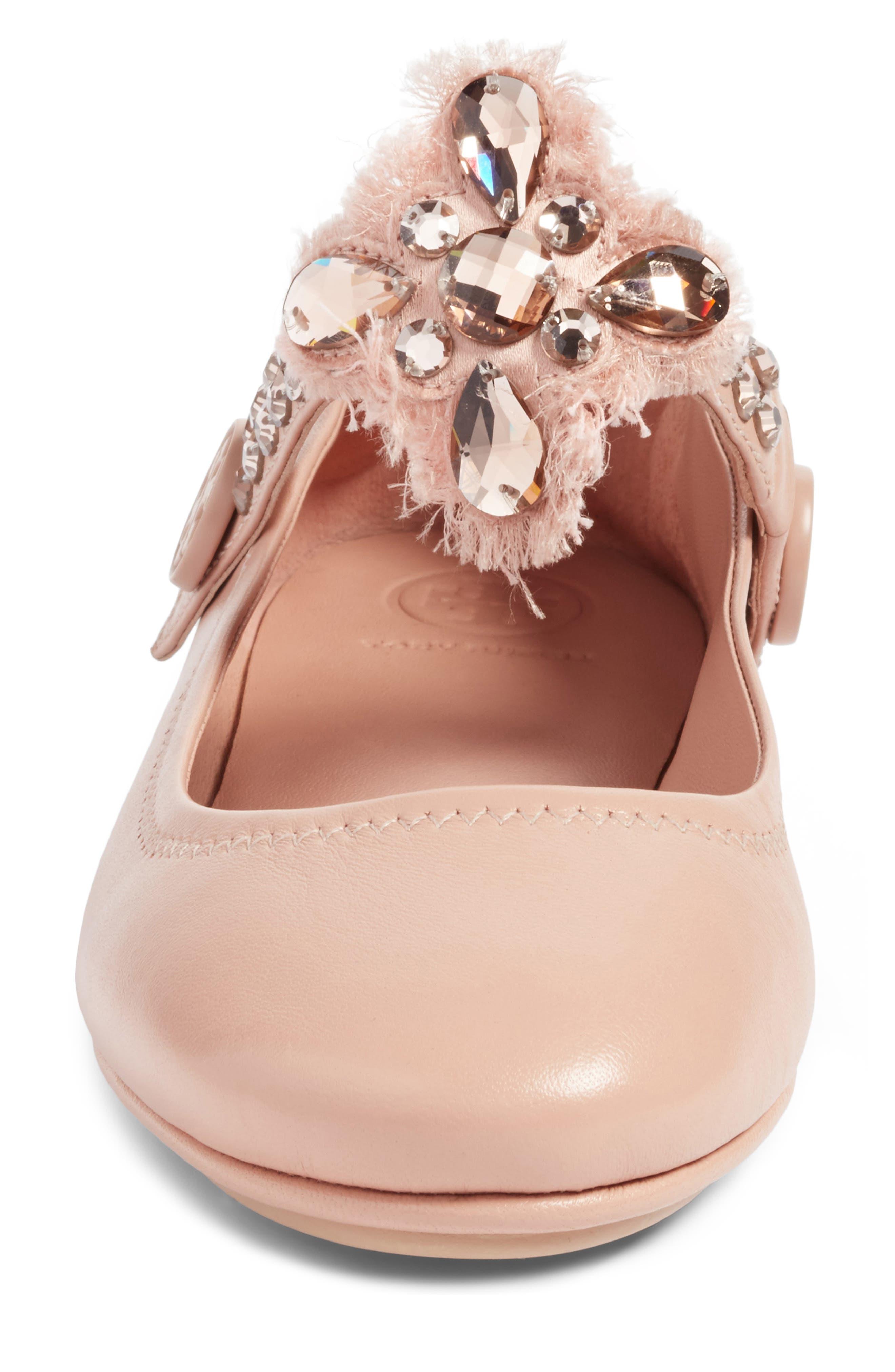 Alternate Image 5  - Tory Burch Minnie Embellished Convertible Strap Ballet Flat (Women)