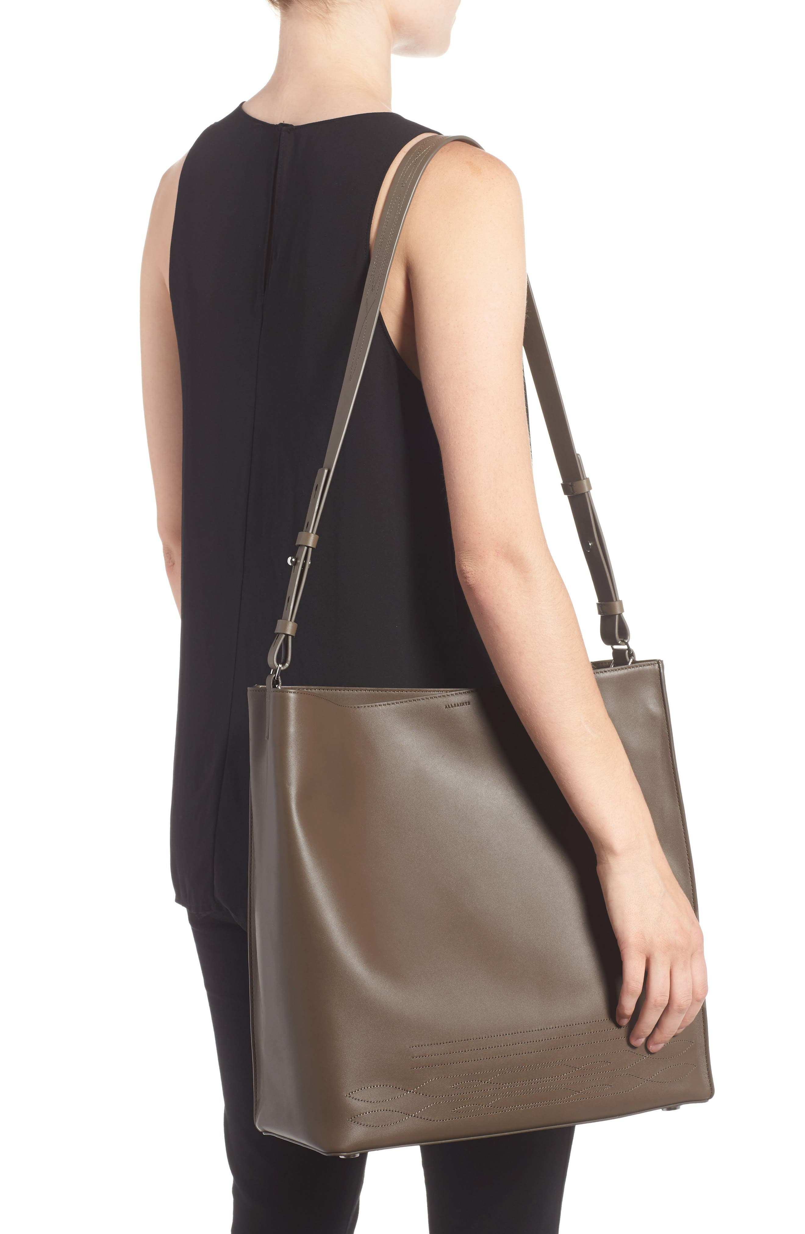 Alternate Image 2  - ALLSAINTS Cooper East/West Calfskin Leather Tote