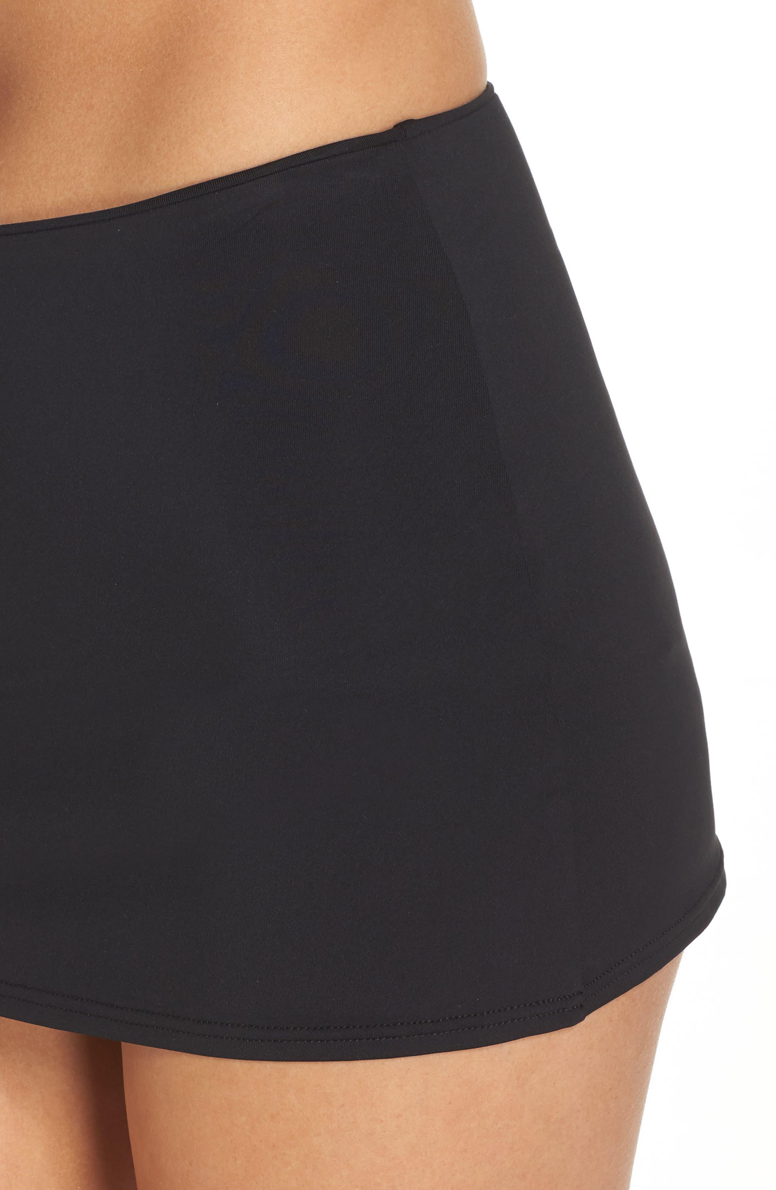 High Waist Bikini Bottoms,                             Alternate thumbnail 4, color,                             Black