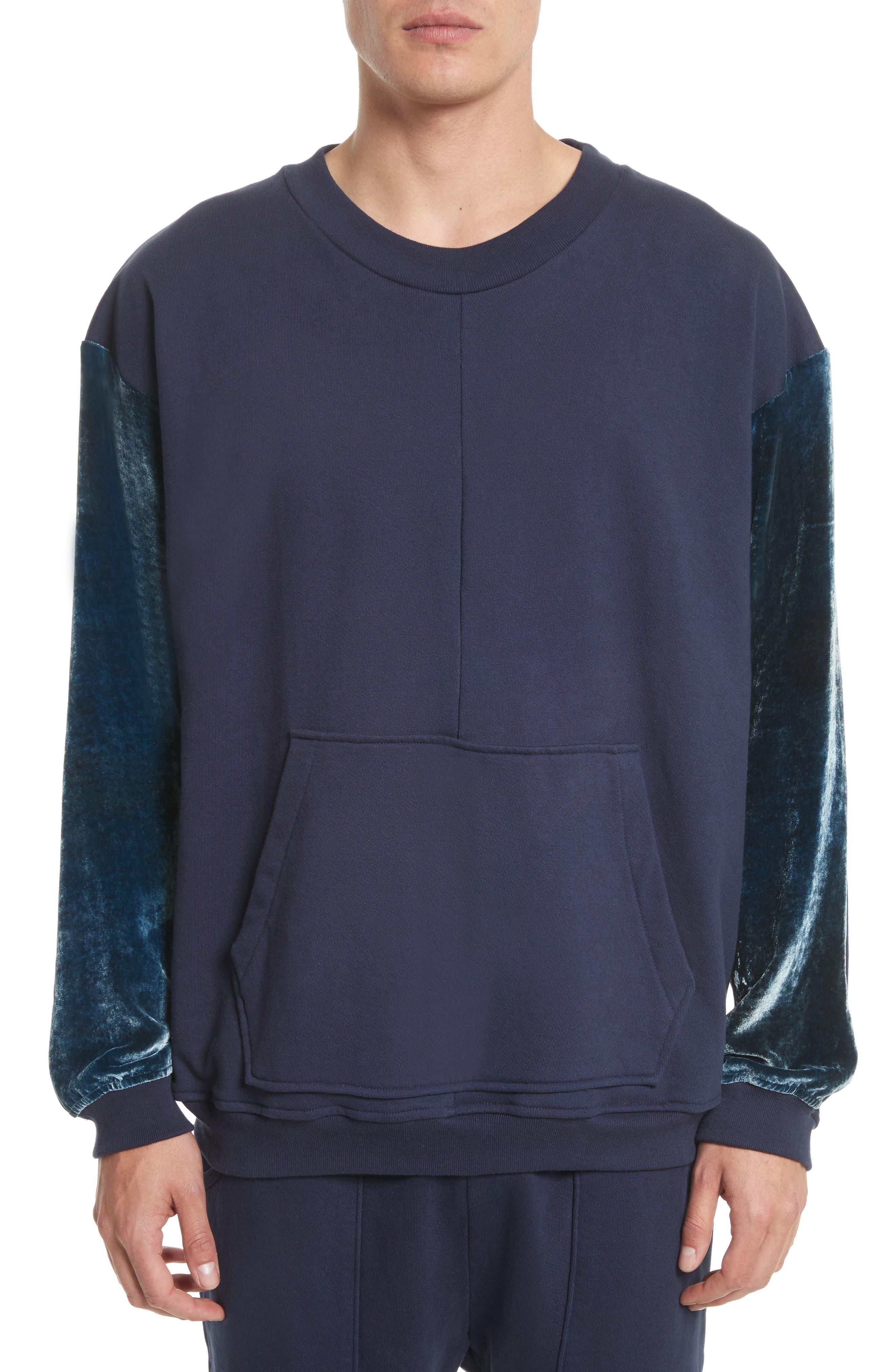 Alternate Image 1 Selected - Drifter Galeras Velvet Sleeve Sweatshirt