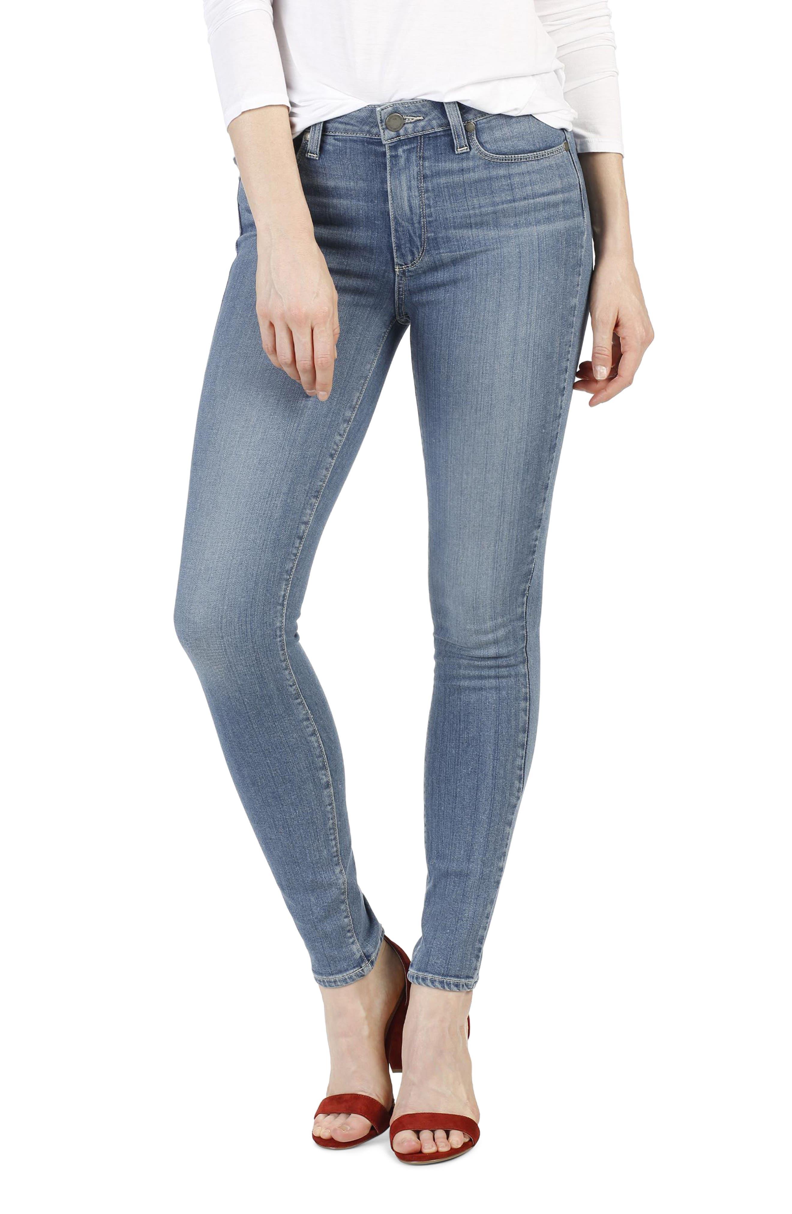Main Image - PAIGE Transcend - Hoxton High Waist Ultra Skinny Jeans (Cayucos)