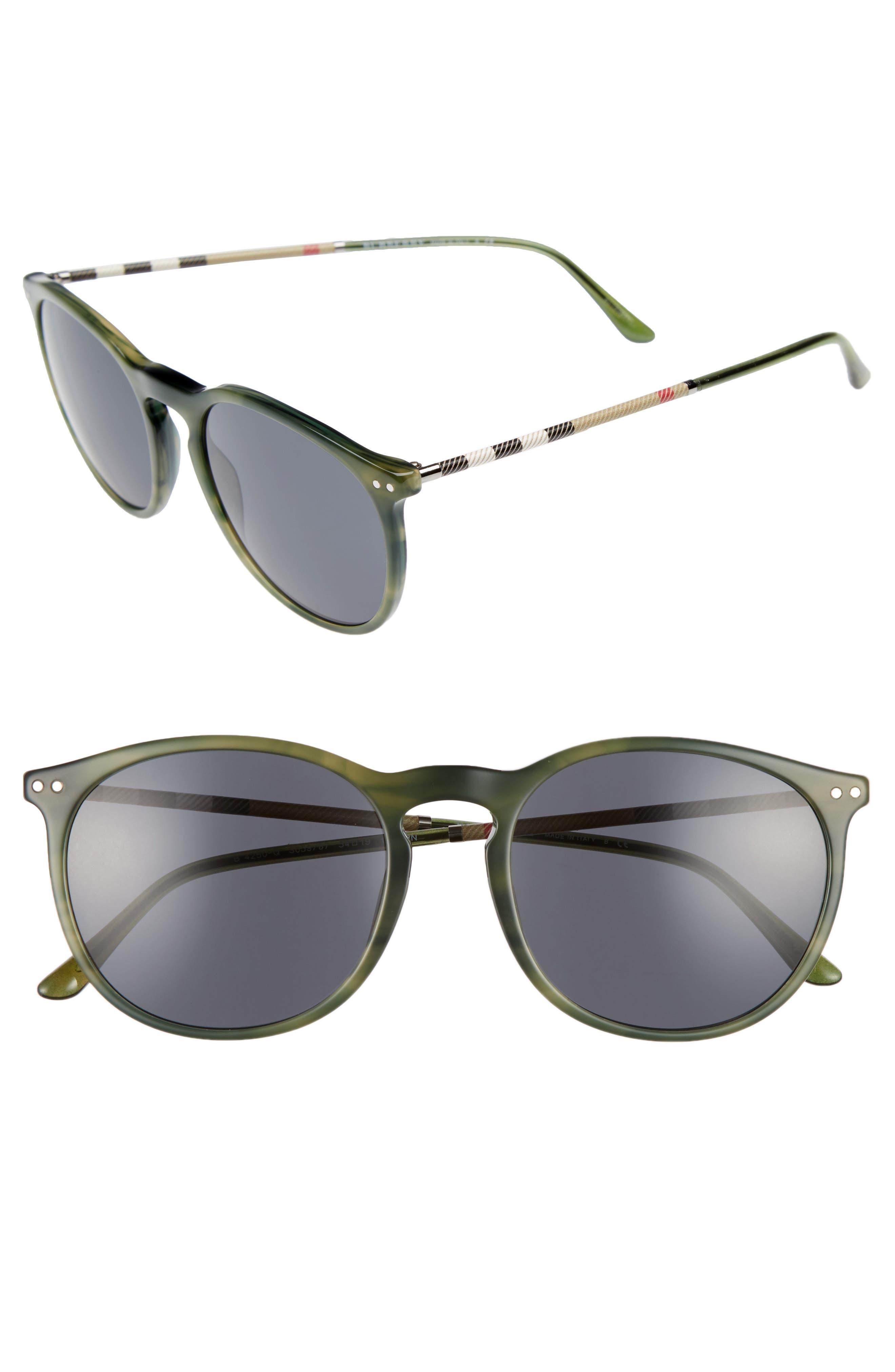 54mm Sunglasses,                             Main thumbnail 1, color,                             Grey/ Green