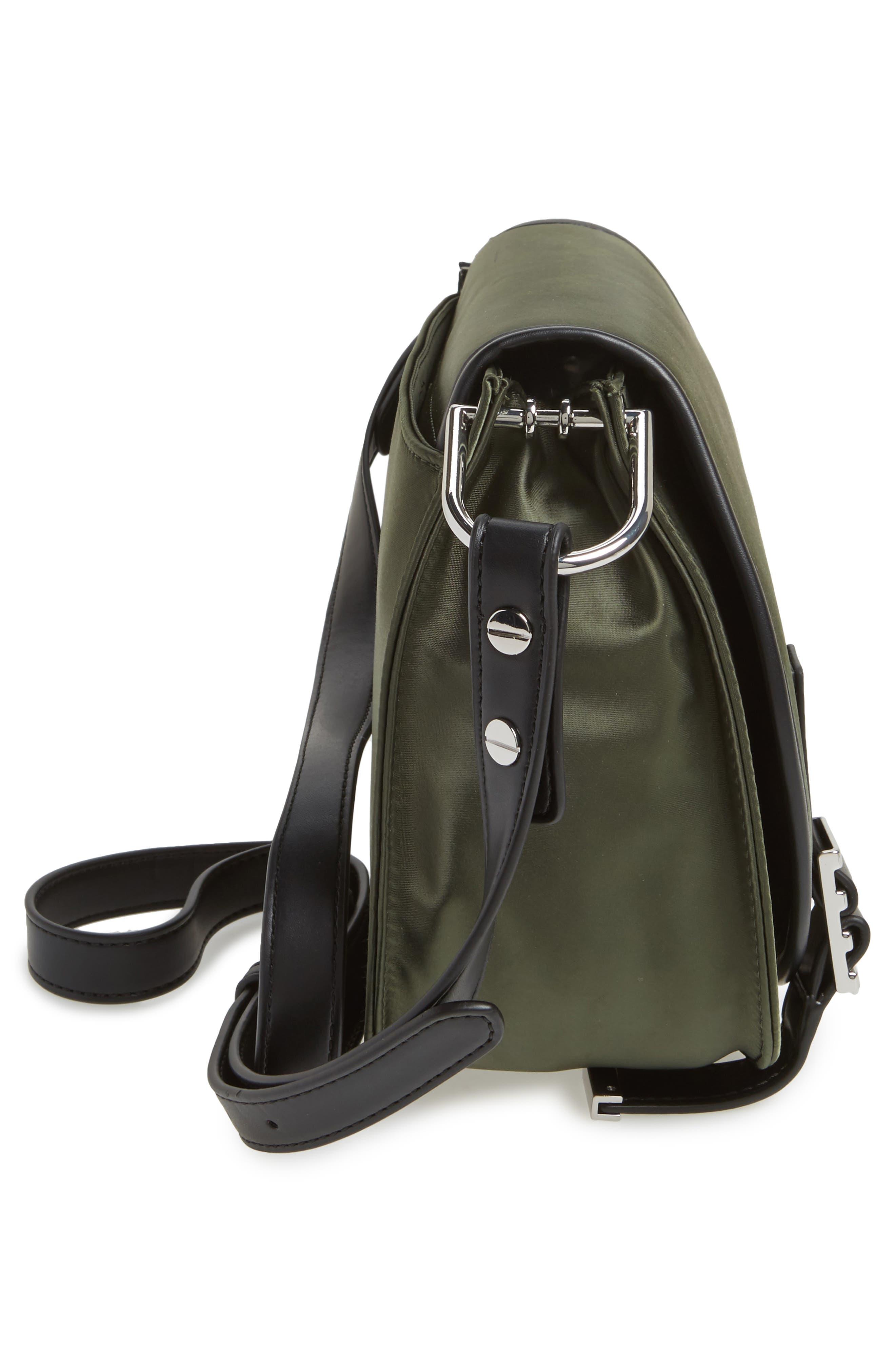 Alternate Image 5  - Rebecca Minkoff Military Satin Nylon Saddle Bag