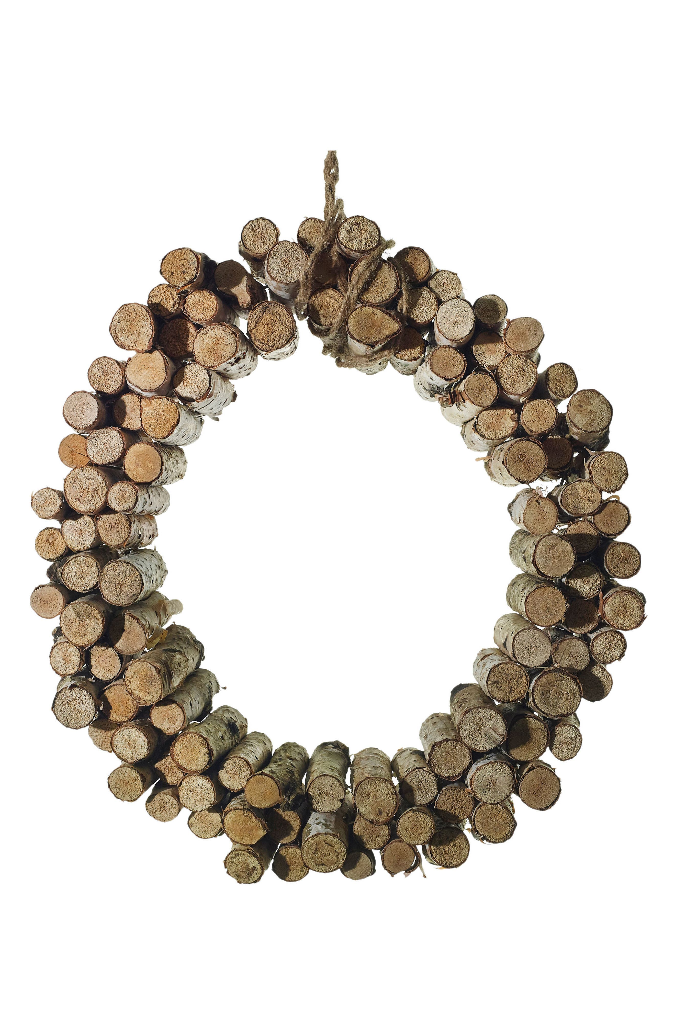 Main Image - Accent Decor Birch Peg Wreath