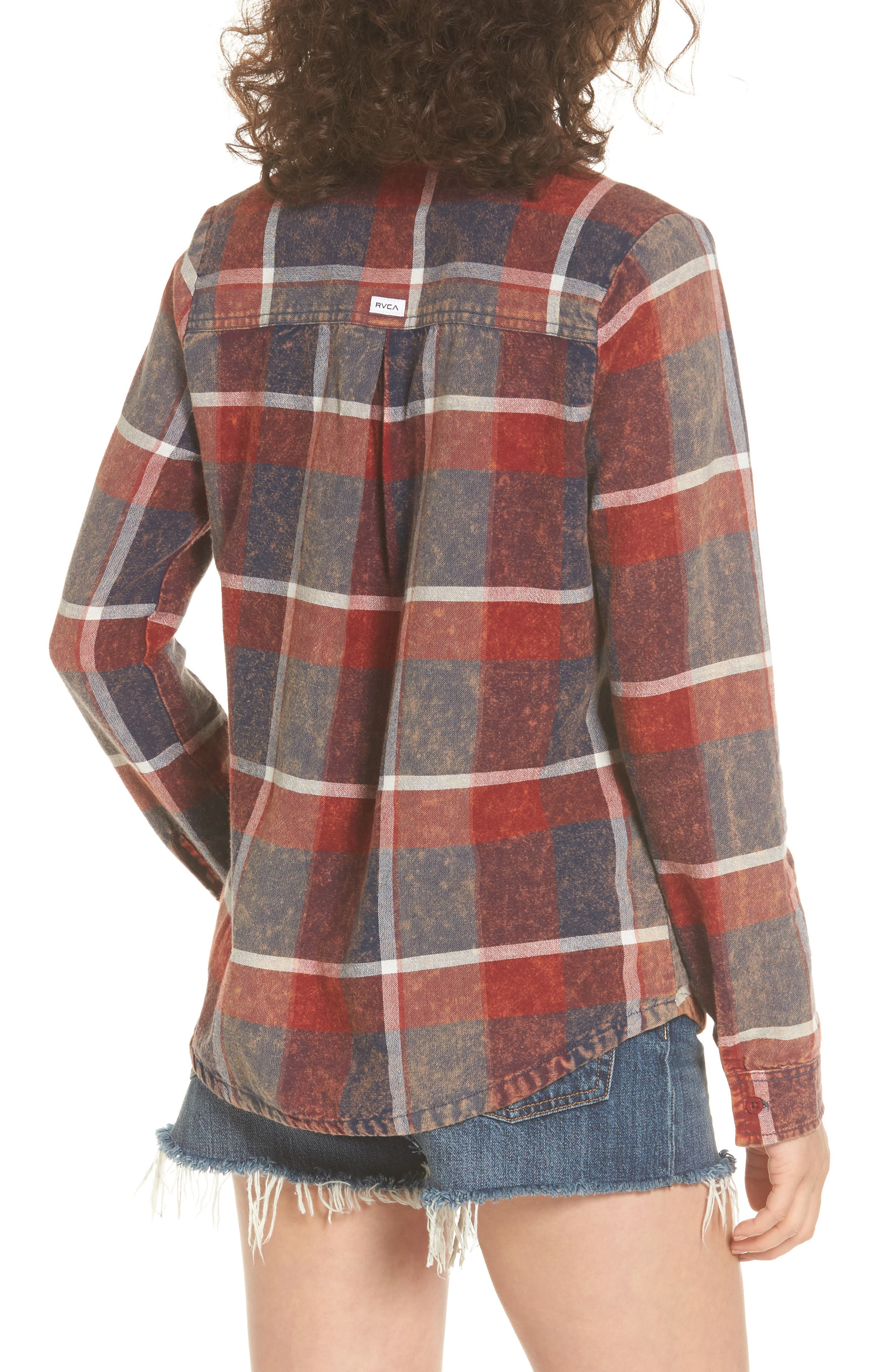 Alternate Image 2  - RVCA Pops Cotton Plaid Shirt