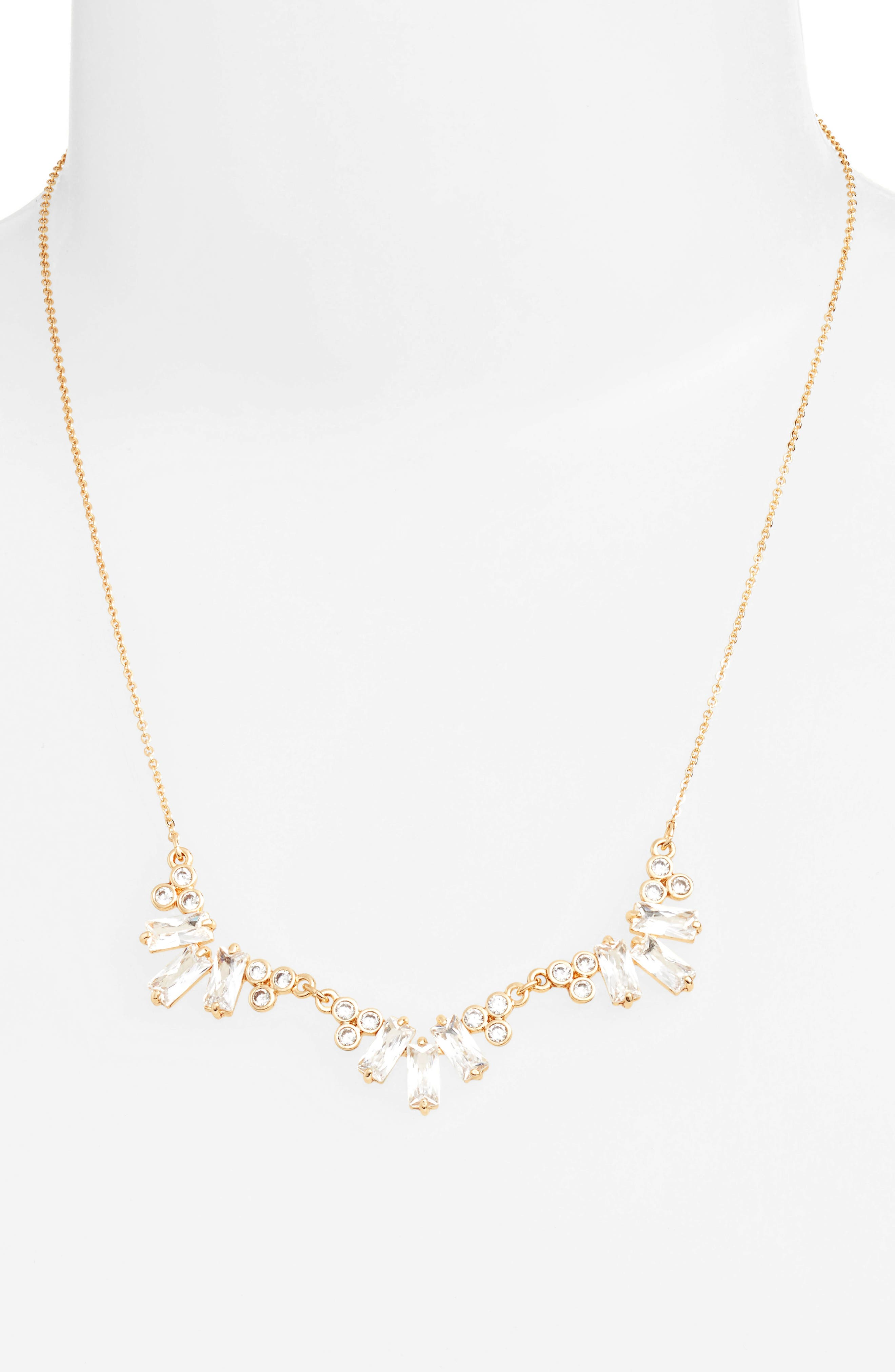 CZ by Kenneth Jay Lane Frontal Necklace