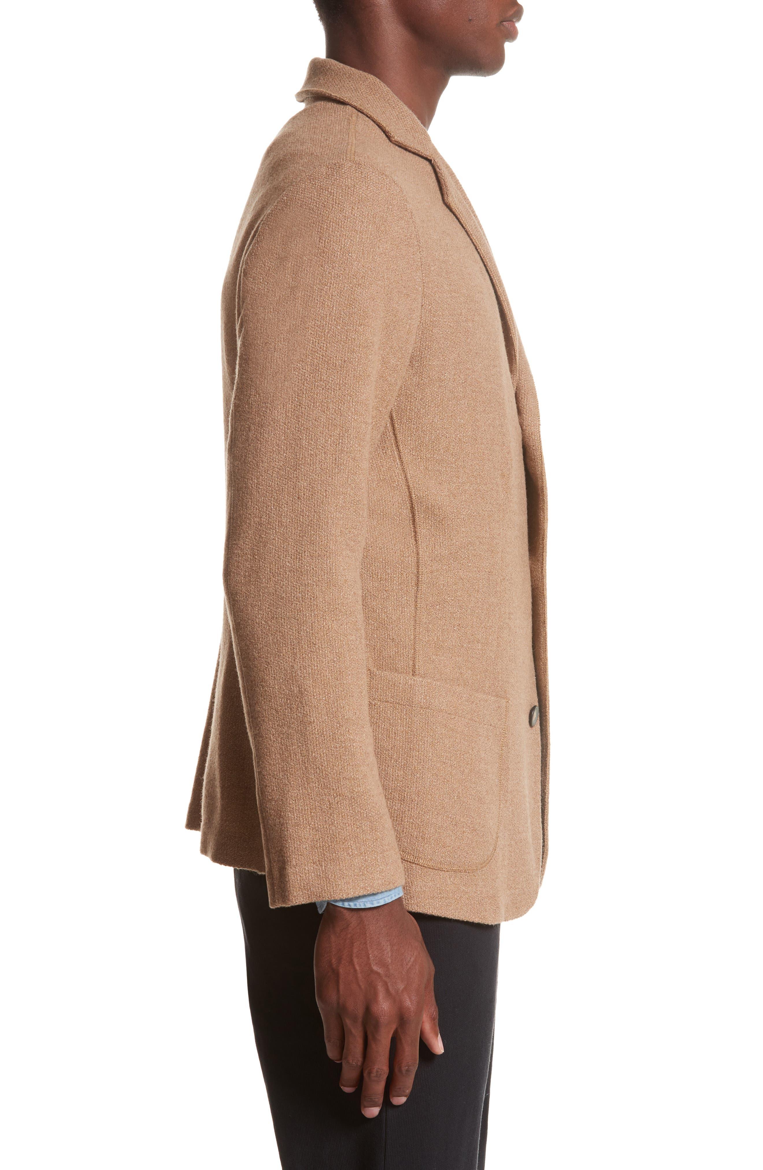 Alternate Image 3  - Eidos Napoli Nicola Camel Knit Wool Blazer