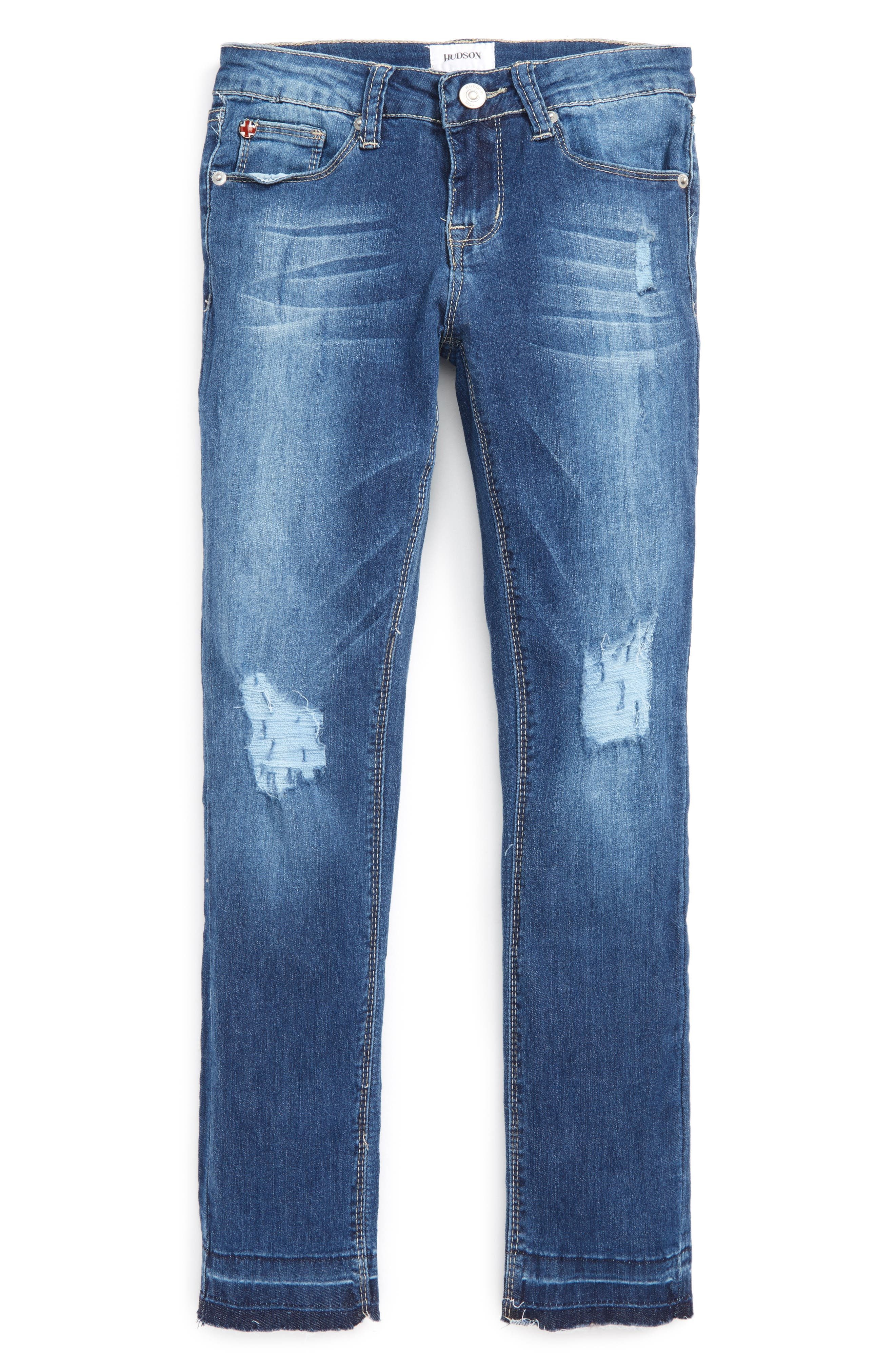 Alternate Image 1 Selected - Hudson Kids Nico Ankle Skinny Jeans (Big Girls)