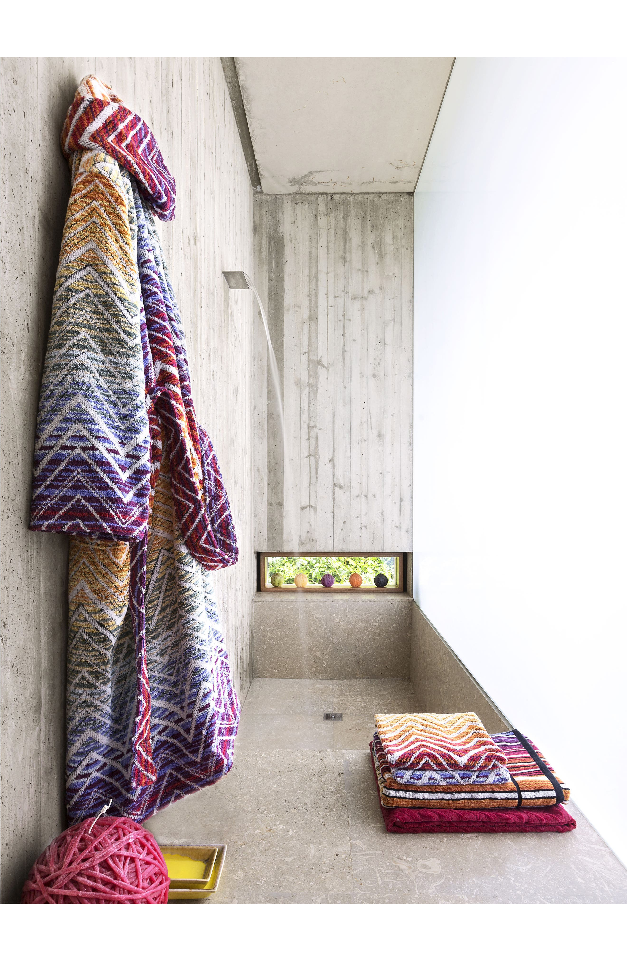 Tolomeo Hand Towel,                             Alternate thumbnail 3, color,                             Multi Red