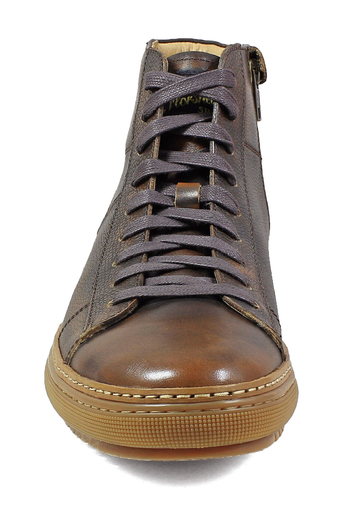 Crew Sneaker,                             Alternate thumbnail 4, color,                             Cognac