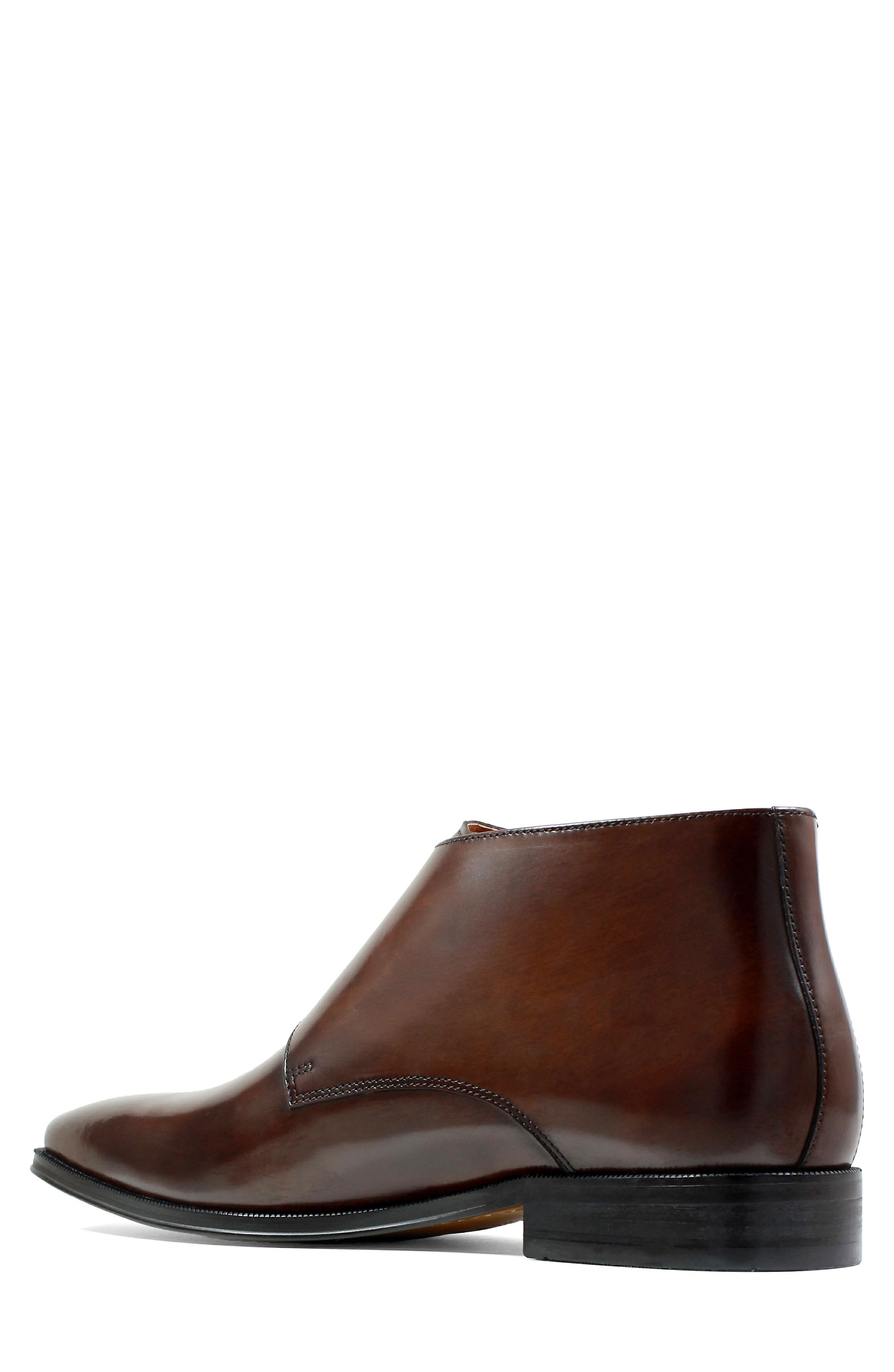 Belfast Double Monk Strap Boot,                             Alternate thumbnail 2, color,                             Brown Leather