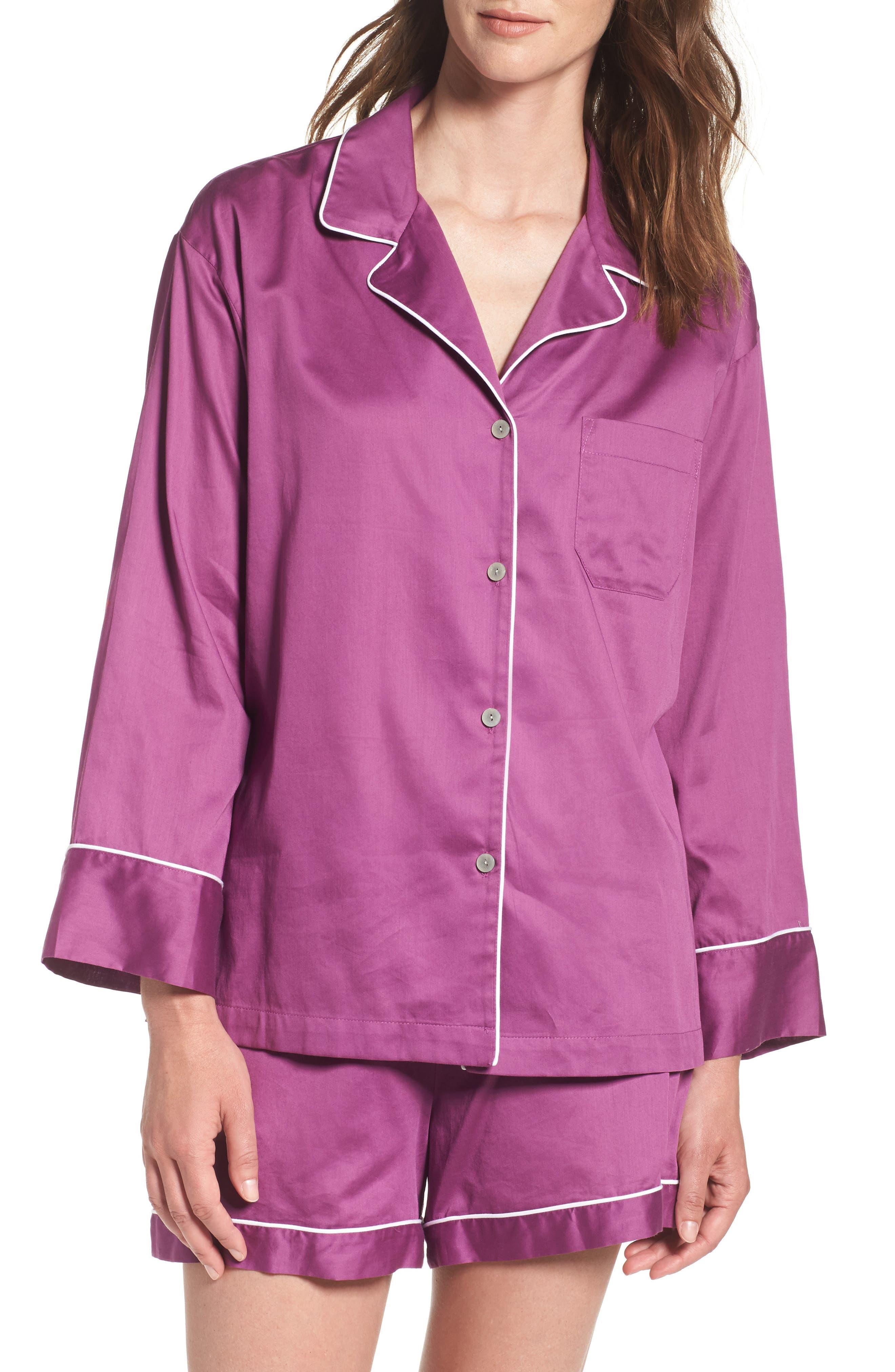 Essentials Short Pajamas,                         Main,                         color, Mauve Pink