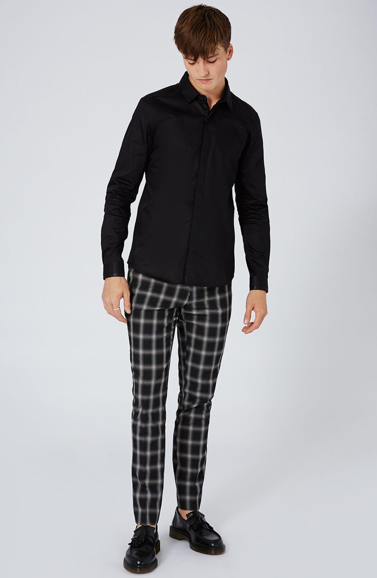 Alternate Image 3  - Topman Satin Trim Woven Shirt
