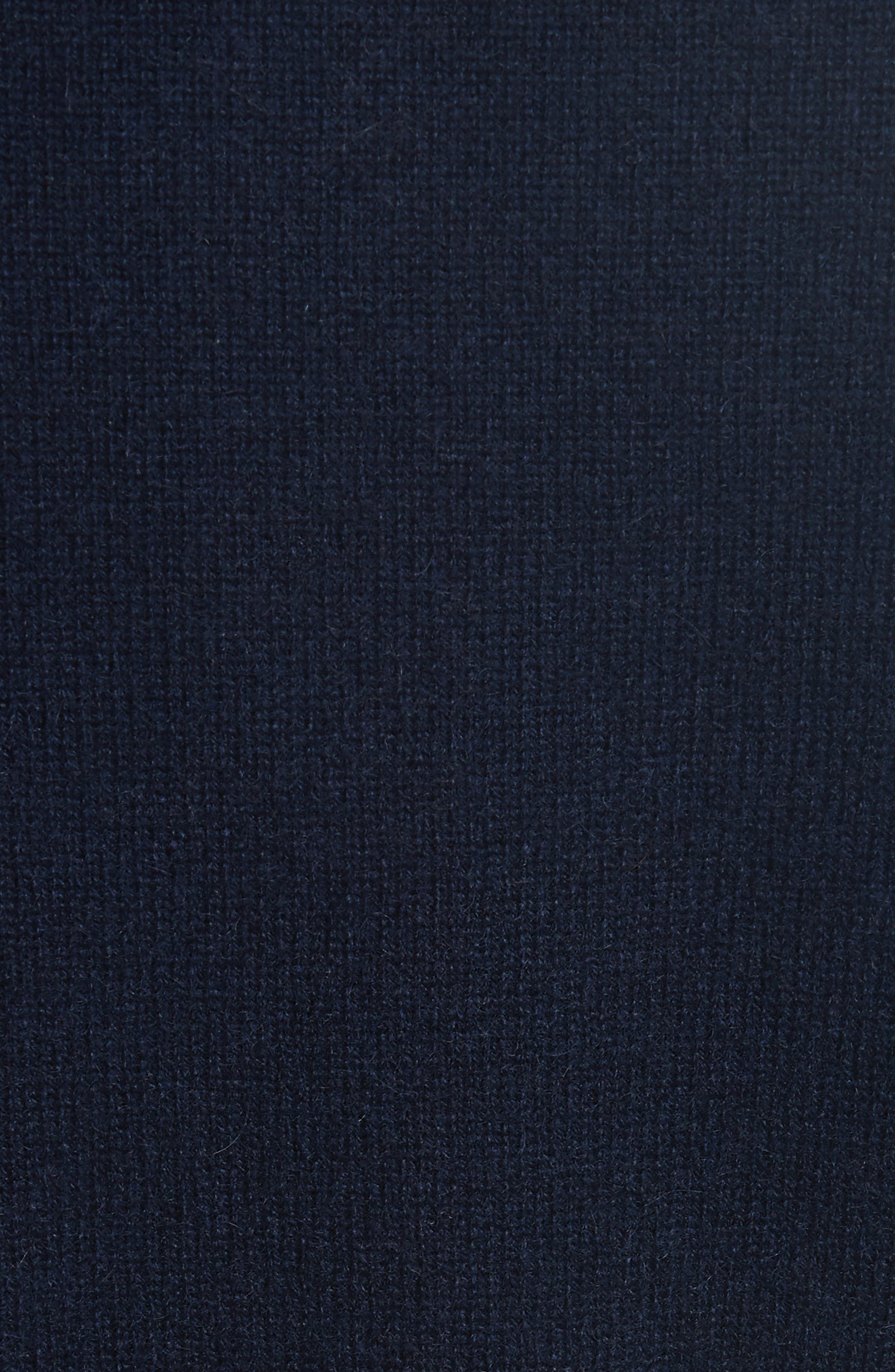 Cashmere Sweater,                             Alternate thumbnail 5, color,                             Navy