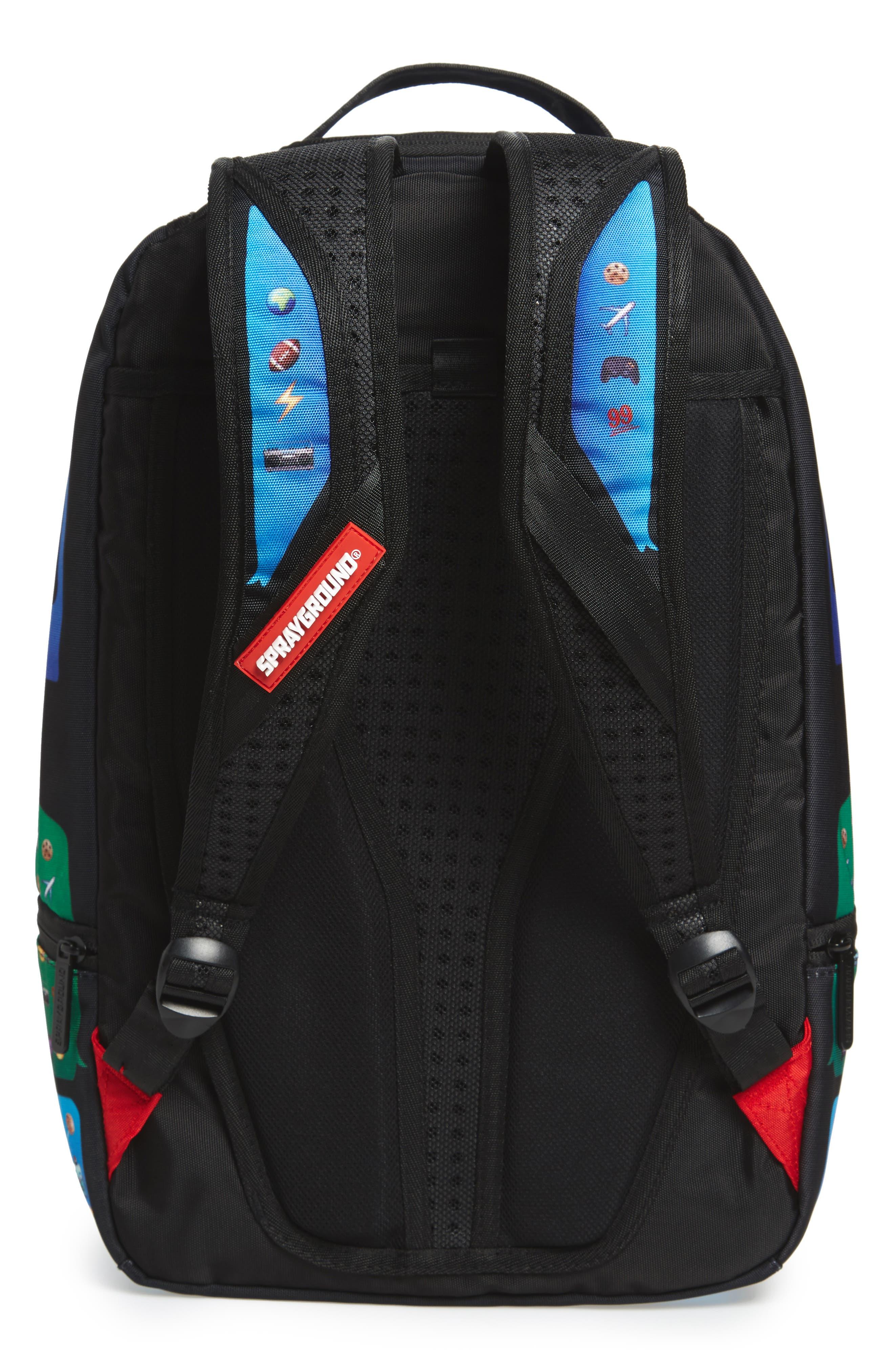 Alternate Image 2  - Sprayground Emoji Shark Backpack (Kids)