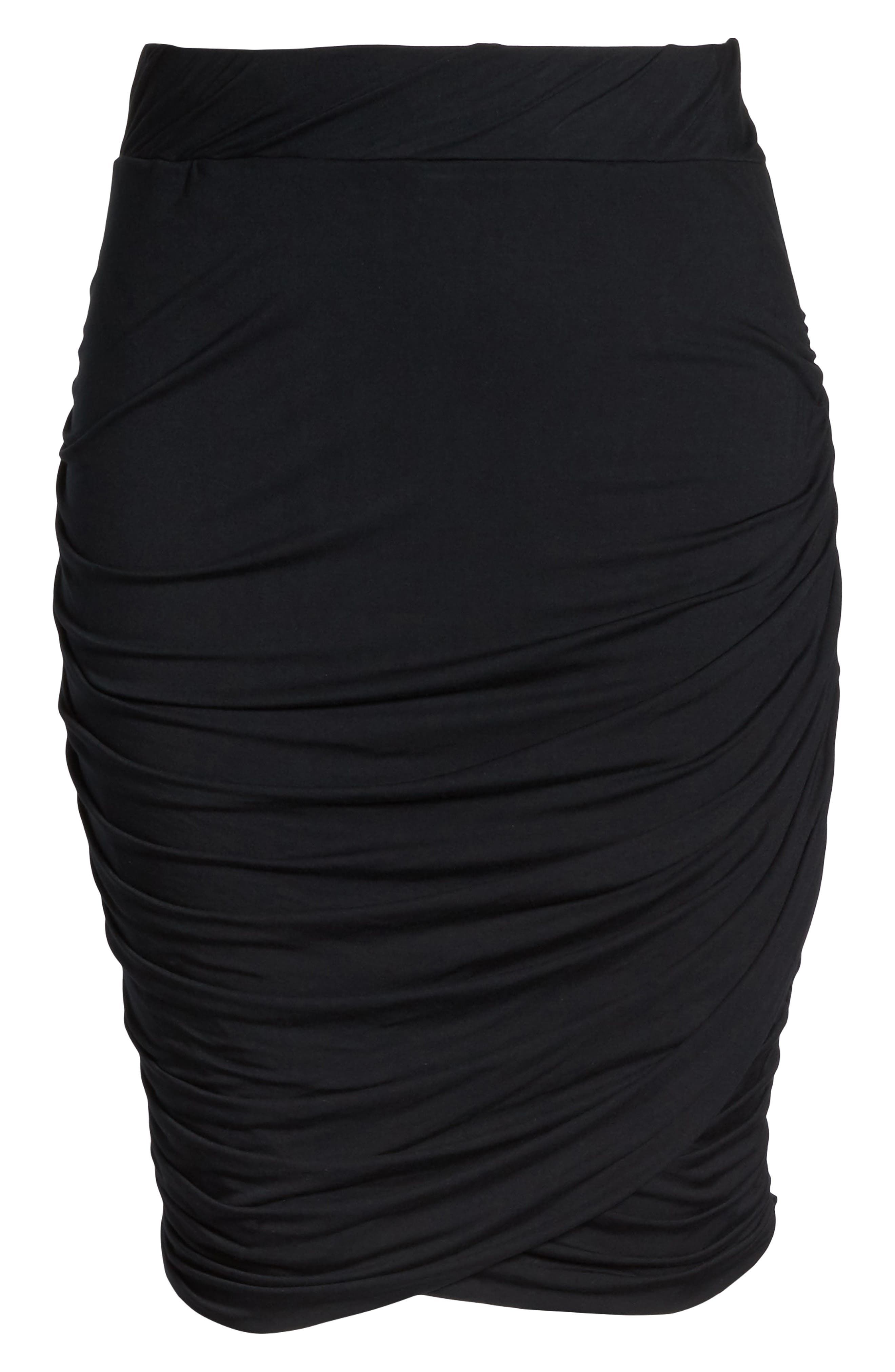 Alternate Image 6  - REBEL WILSON X ANGELS Ruched Jersey Knit Skirt (Plus Size)