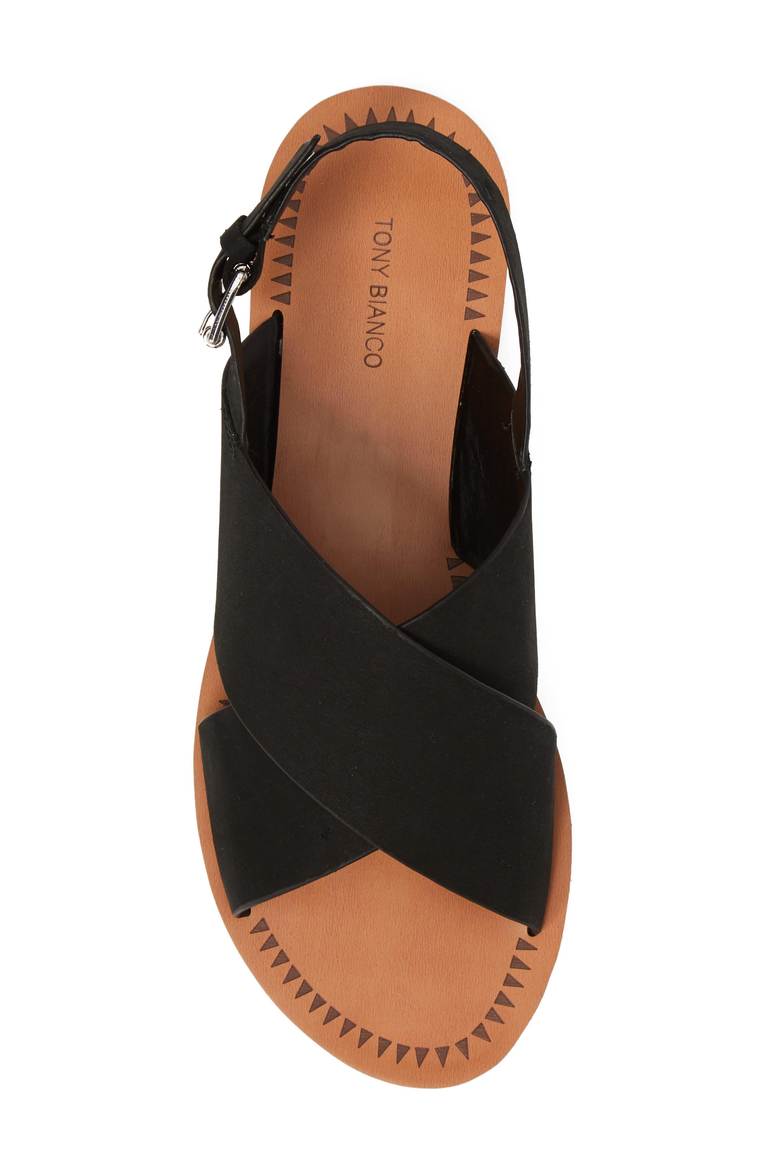 Henri Cross Strap Sandal,                             Alternate thumbnail 5, color,                             Black Phoenix