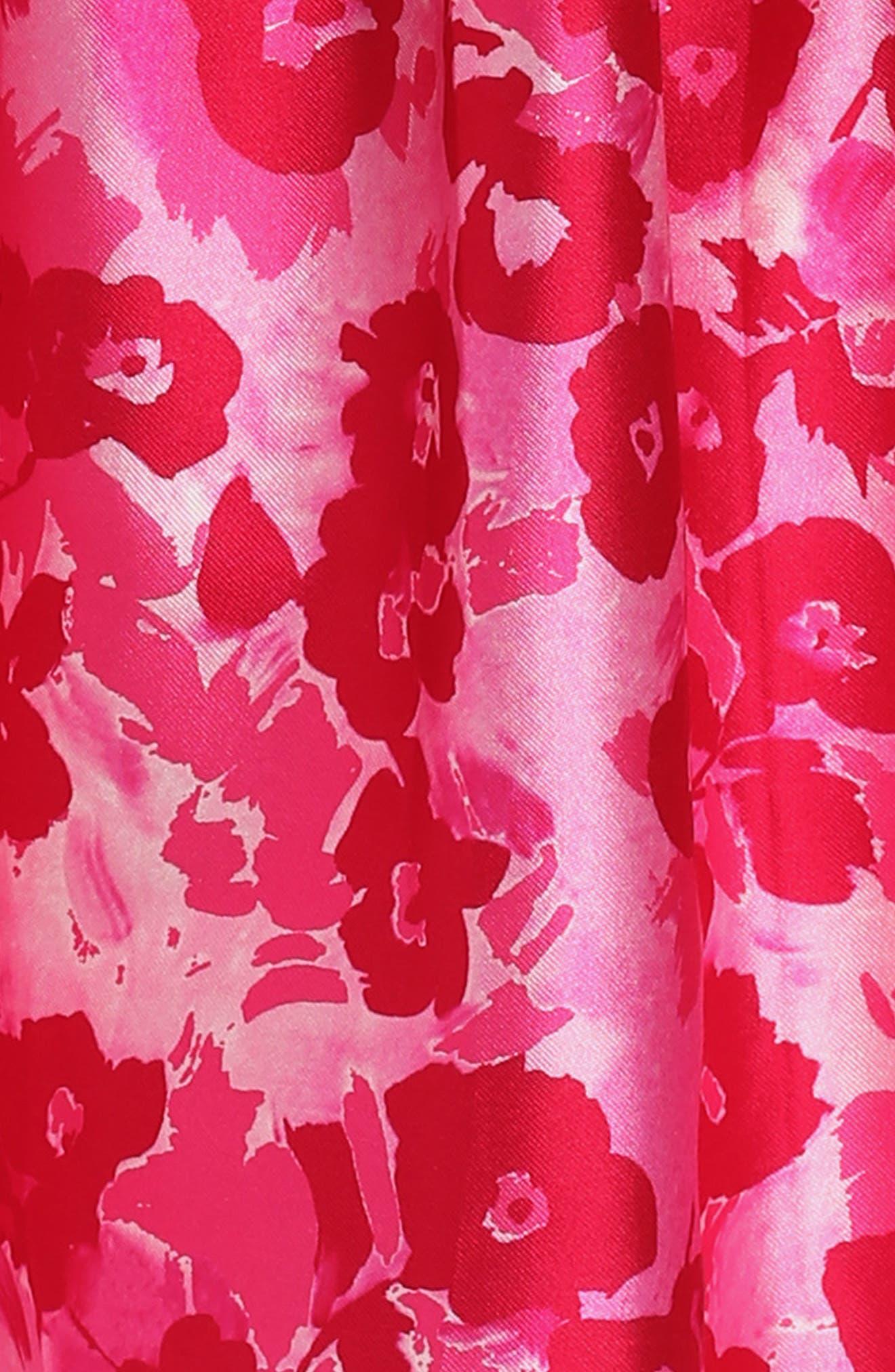 Wild Roses Mikado Dress,                             Alternate thumbnail 3, color,                             Blush Multi