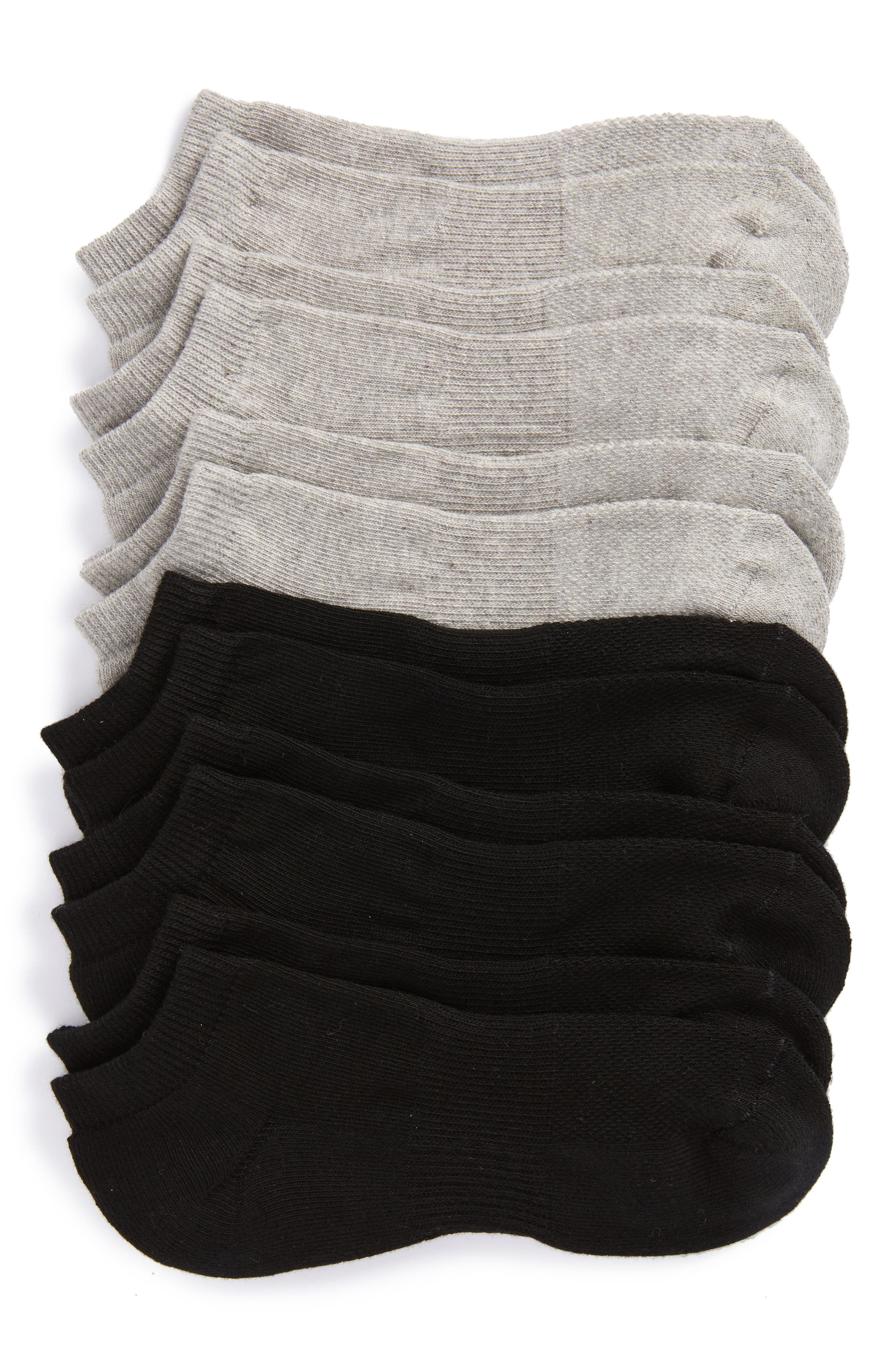 Alternate Image 1 Selected - Nordstrom Men's Shop 6-Pack Athletic No-Show Socks