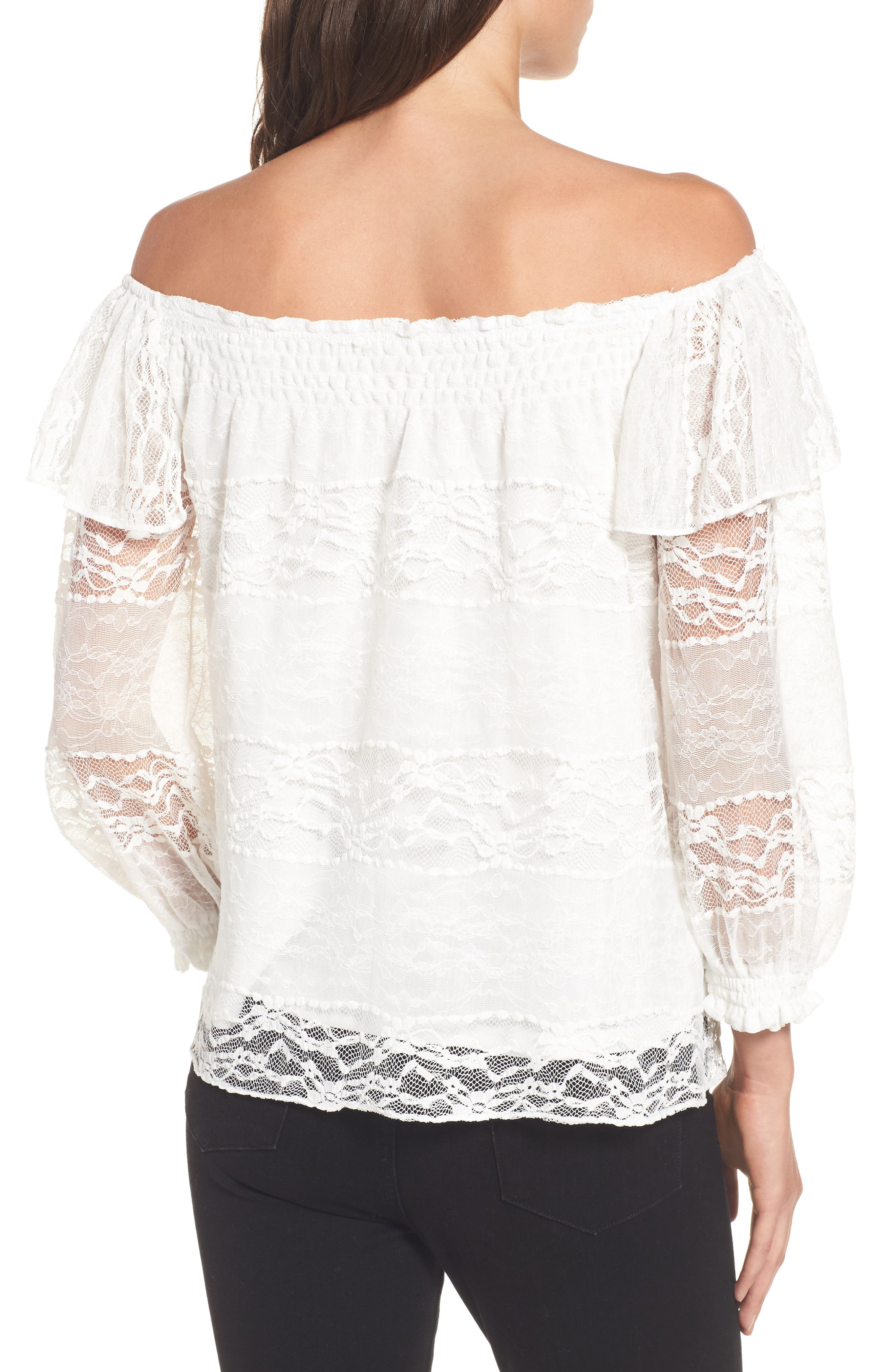 Alternate Image 2  - devlin Wilma Off the Shoulder Lace Blouse
