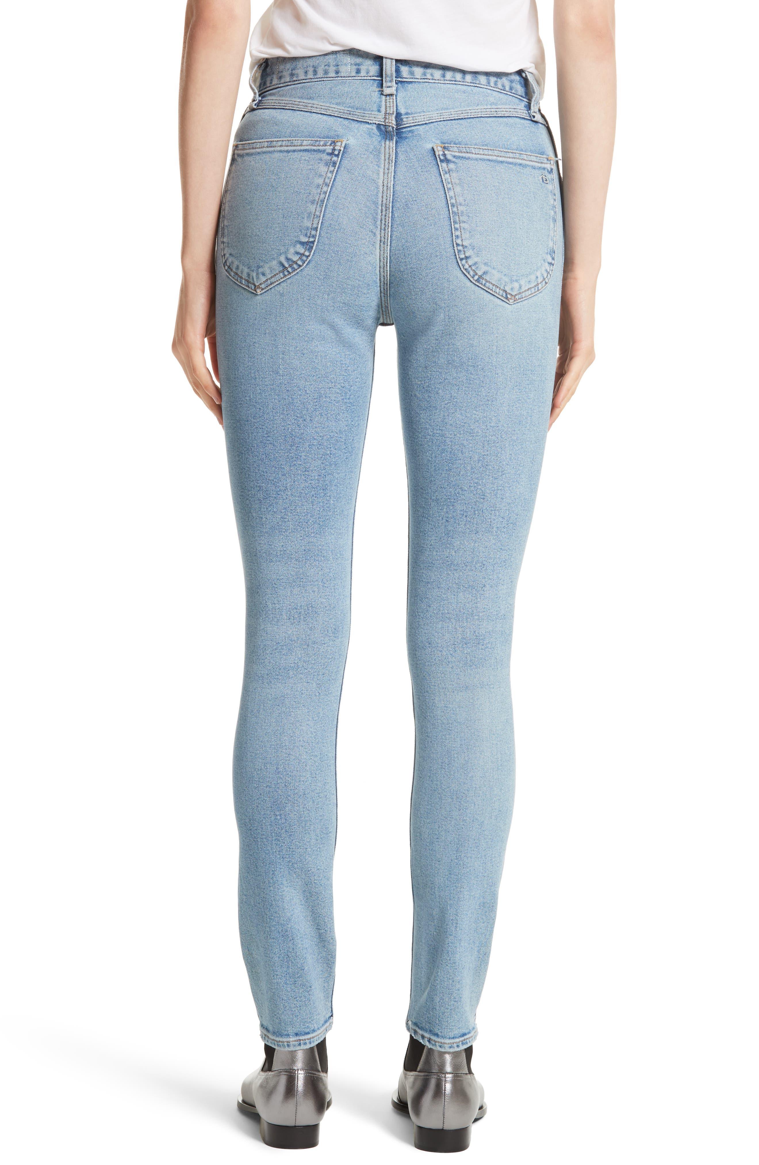 Alternate Image 3  - rag & bone/JEAN Lou High Waist Skinny Jeans (Hotbird)