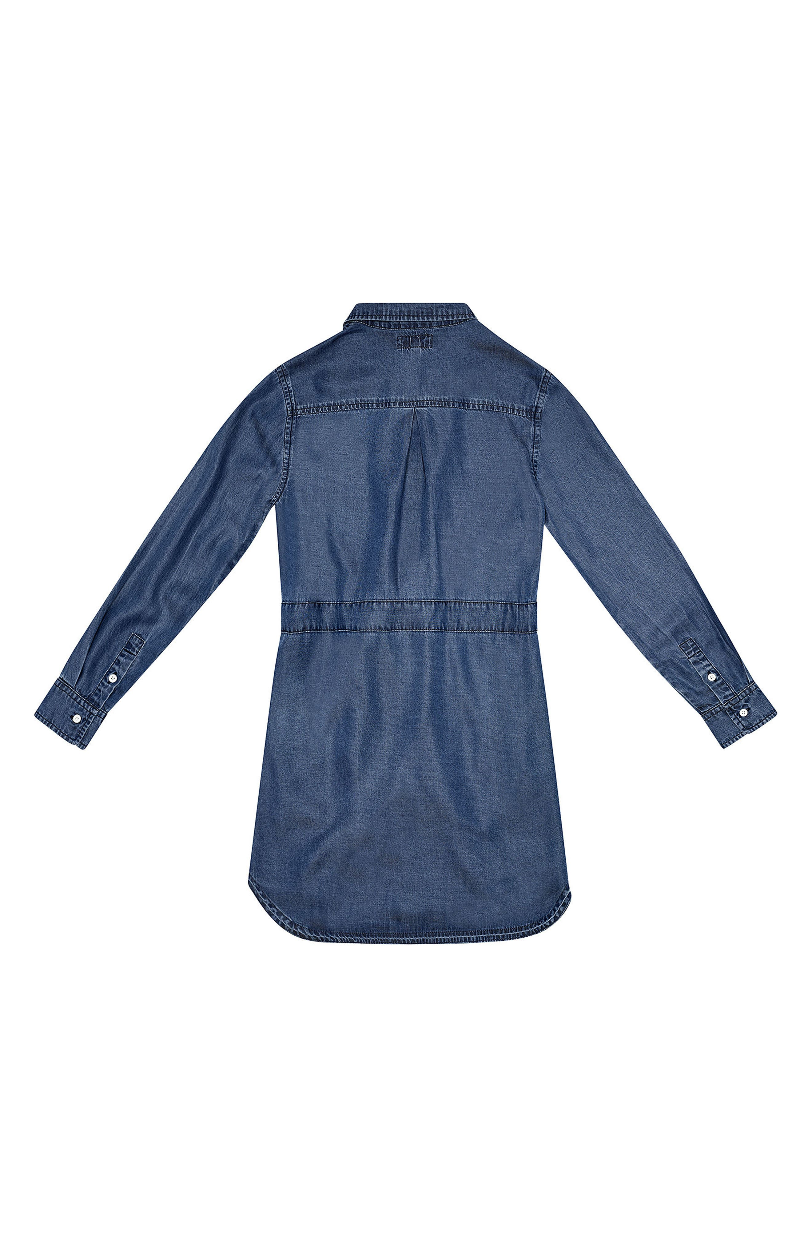 Alternate Image 2  - DL1961 Chambray Shirtdress (Big Girls)