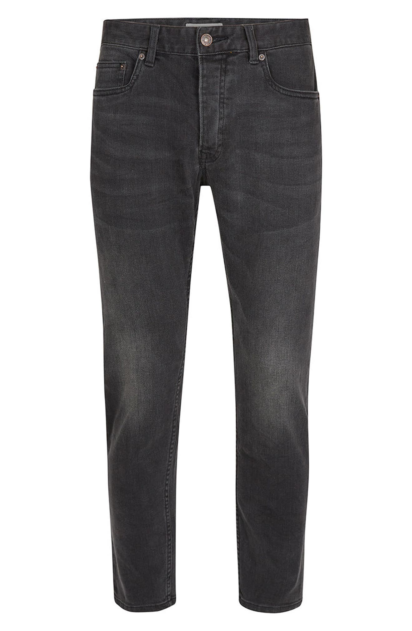 Alternate Image 6  - Topman Stretch Slim Fit Crop Jeans