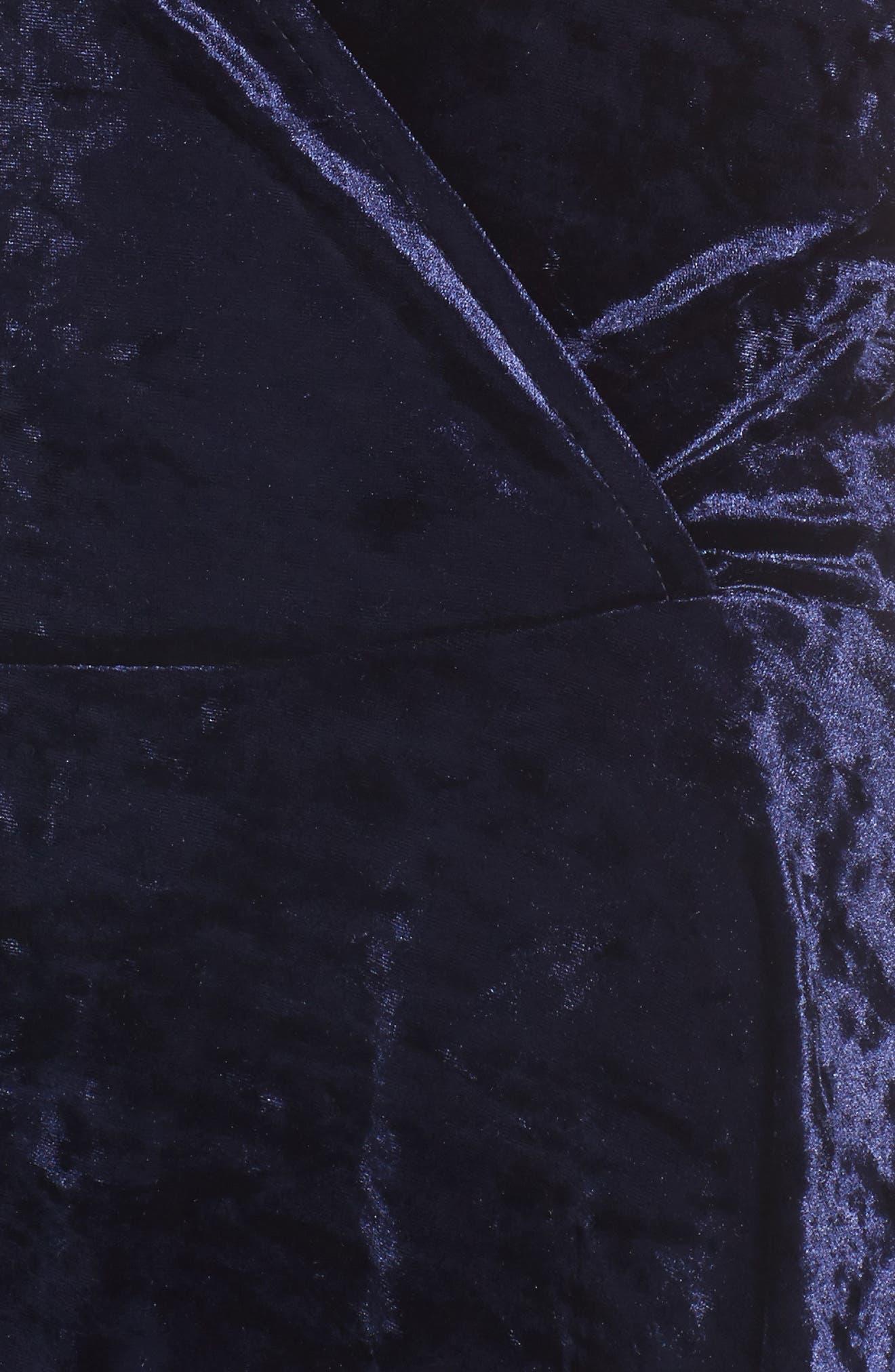 Alternate Image 4  - Love, Fire Velvet Surplice Dress