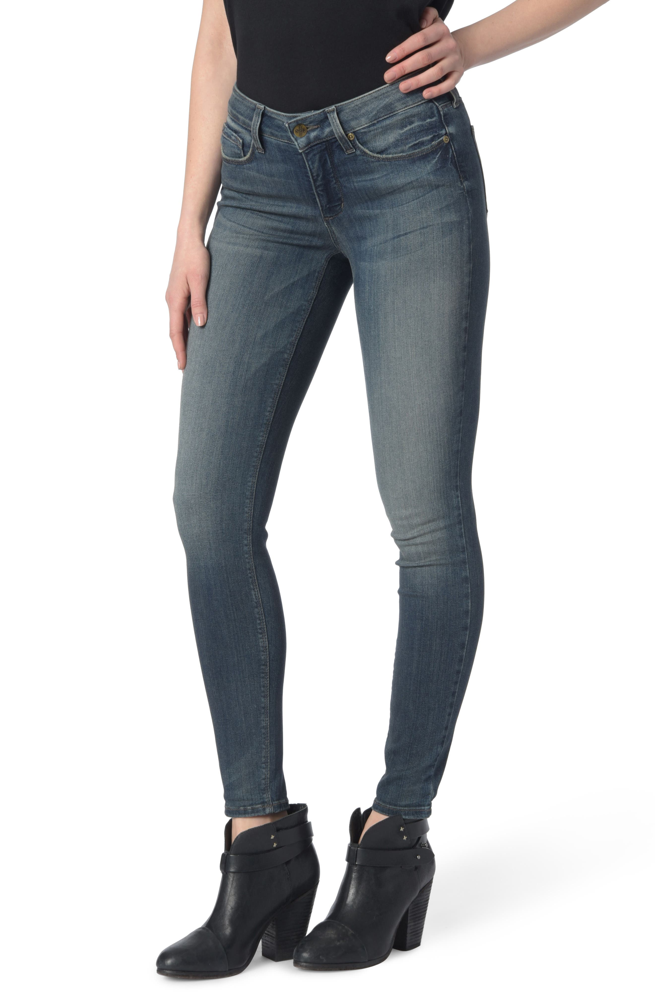 Alternate Image 1 Selected - NYDJ Dylan Skinny Ankle Jeans (Axiom)