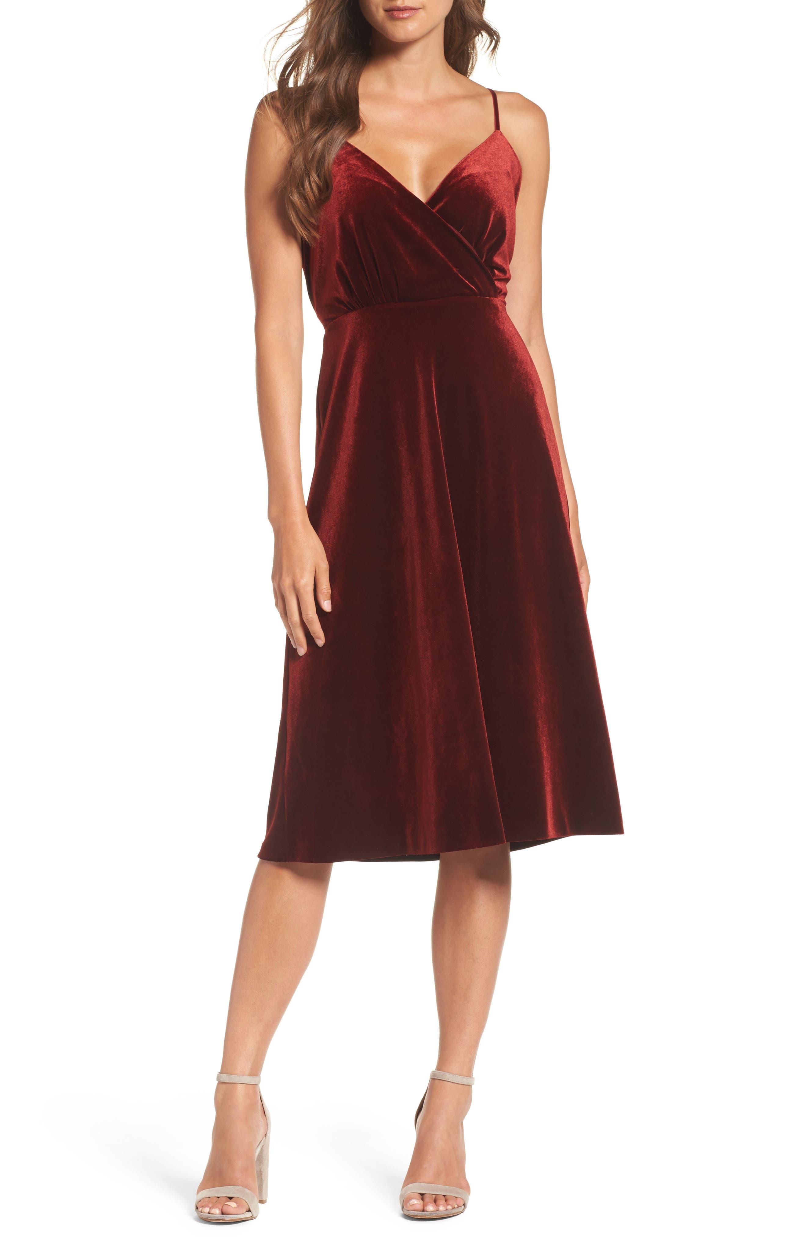 Alternate Image 1 Selected - Ali & Jay Velvet Midi Dress