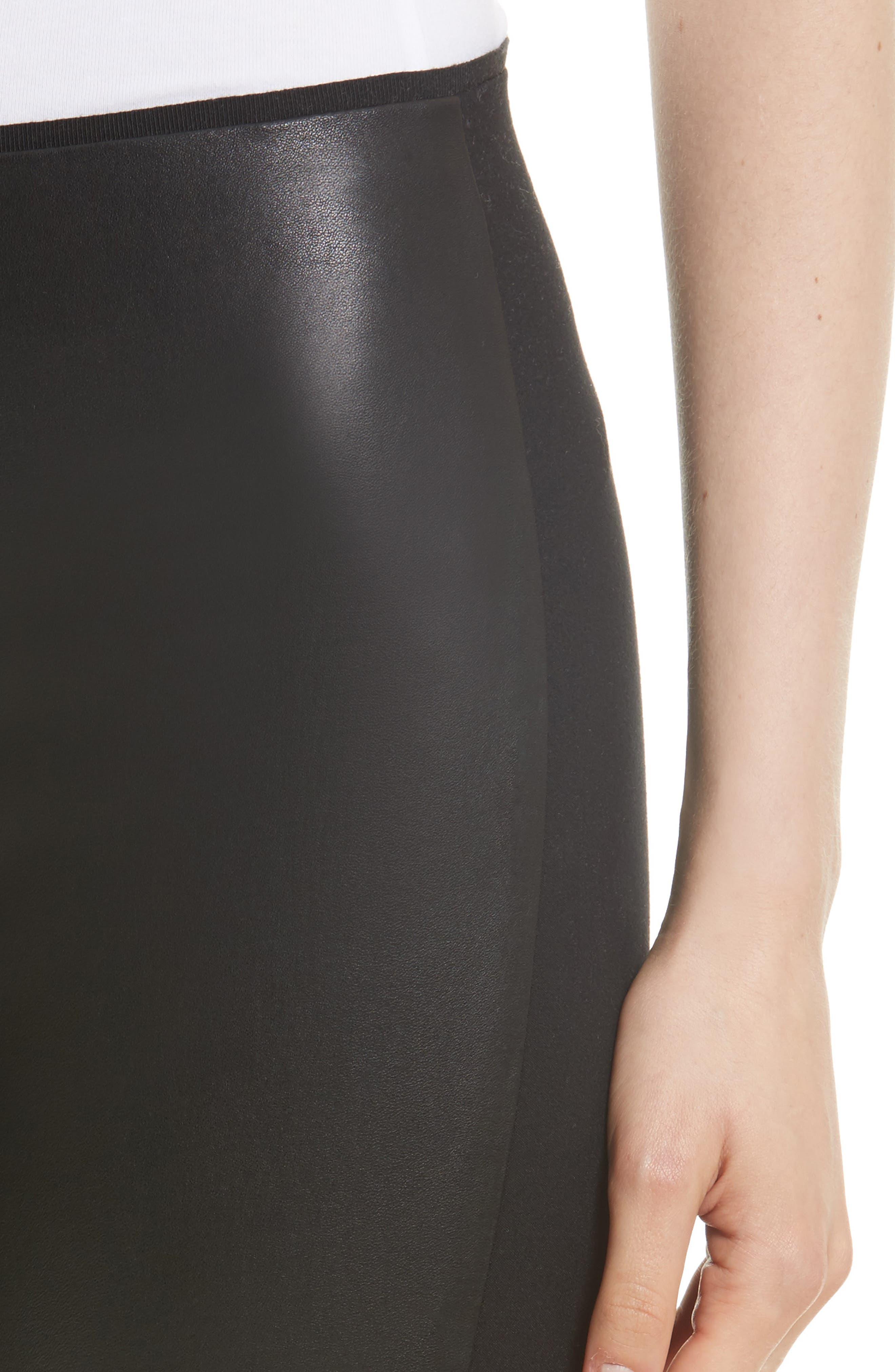 Alternate Image 5  - rag & bone Josephine Leather Front Skinny Pants