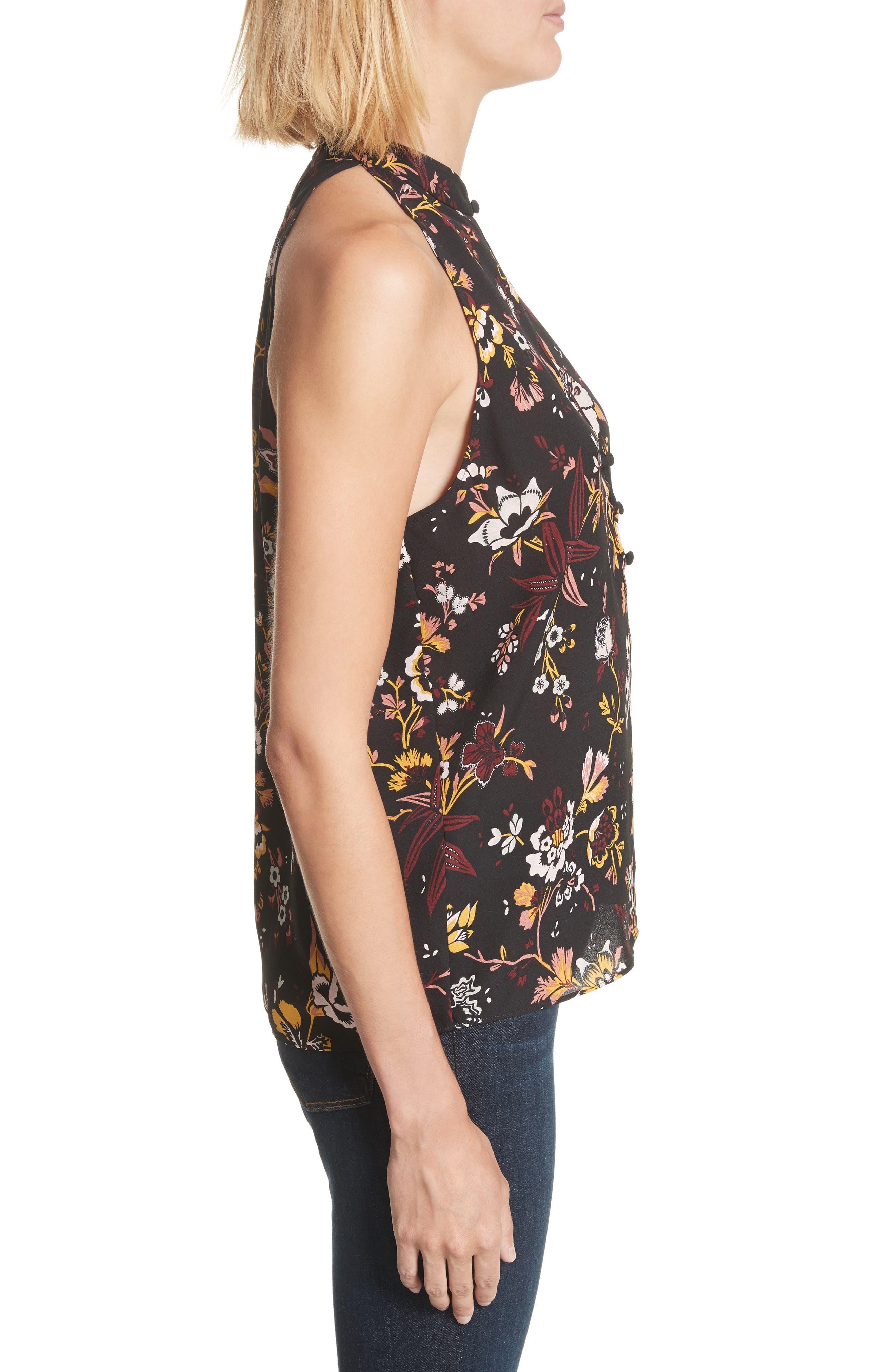Alternate Image 3  - A.L.C. Keith Floral Print Silk Top