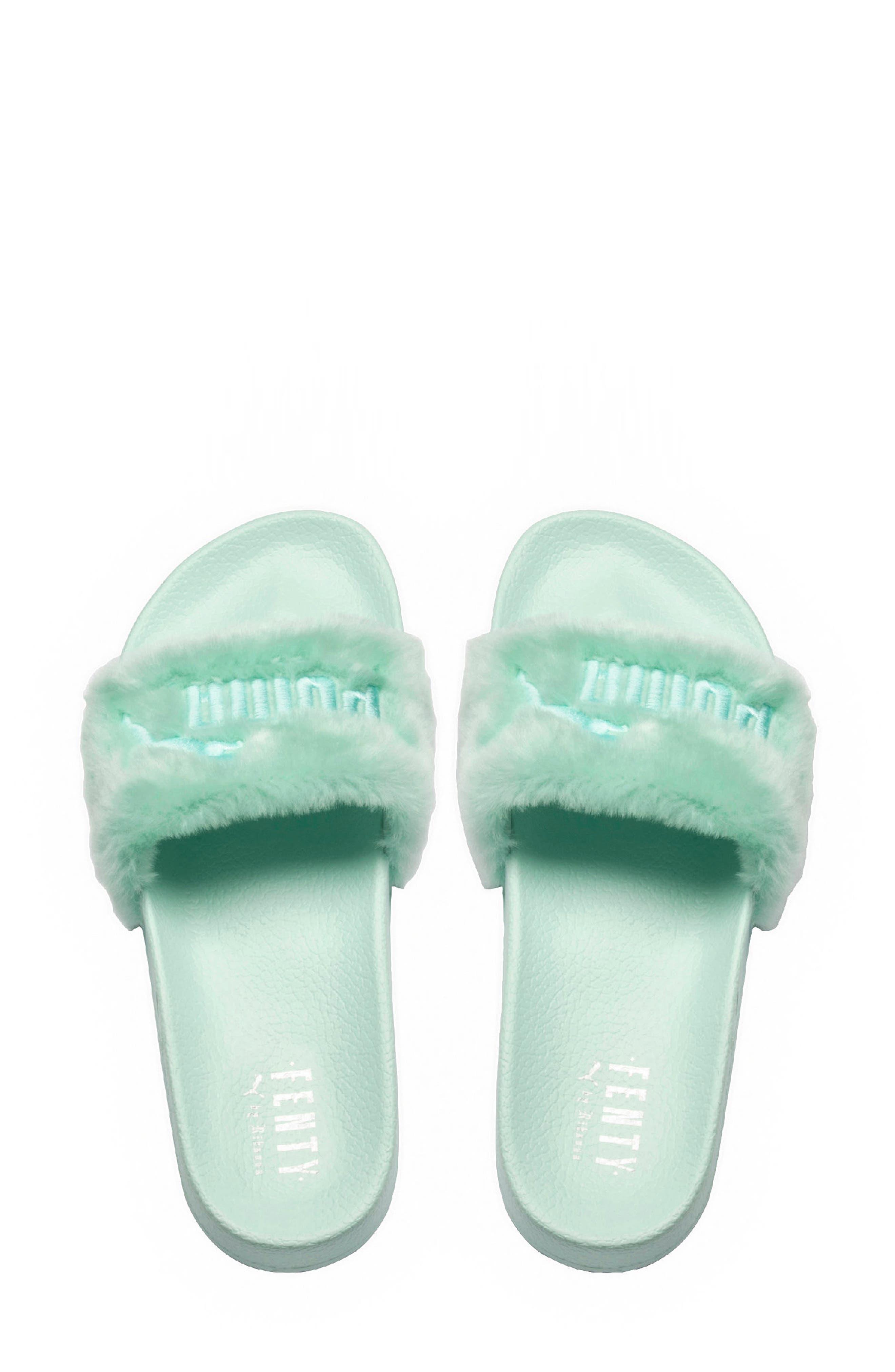 Alternate Image 2  - FENTY PUMA by Rihanna 'Leadcat Fenty' Faux Fur Slide Sandal (Women)