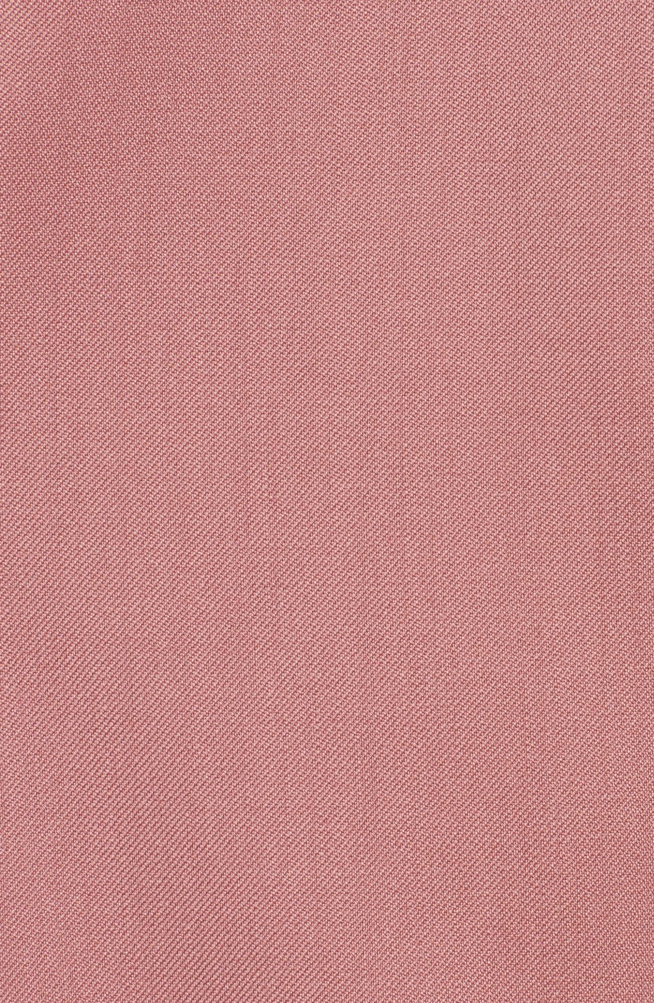 Handkerchief Tie Wool Gabardine Top,                             Alternate thumbnail 6, color,                             Rose