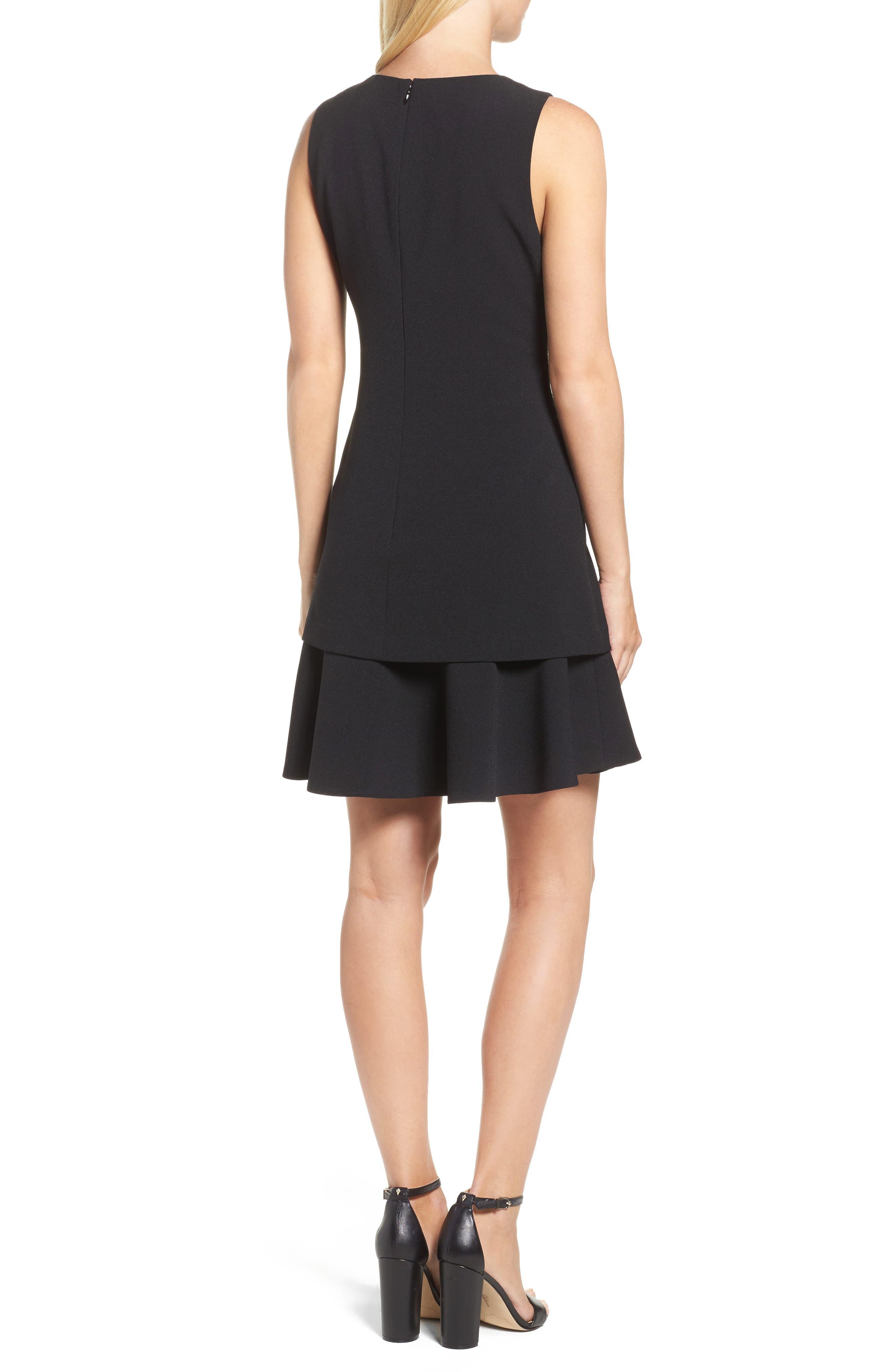 Alternate Image 2  - Eliza J Crepe Fit & Flare Dress (Regular & Petite)
